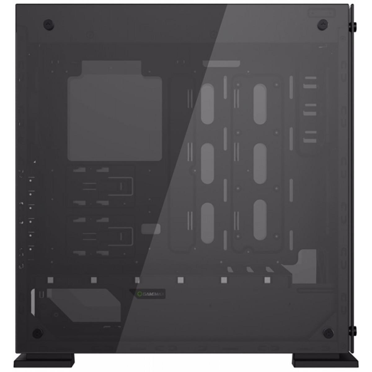 Gabinete Gamemax Onyx II GGM Vidro Temperado, 4 Fans RGB Com Controle Remoto, Full Tower