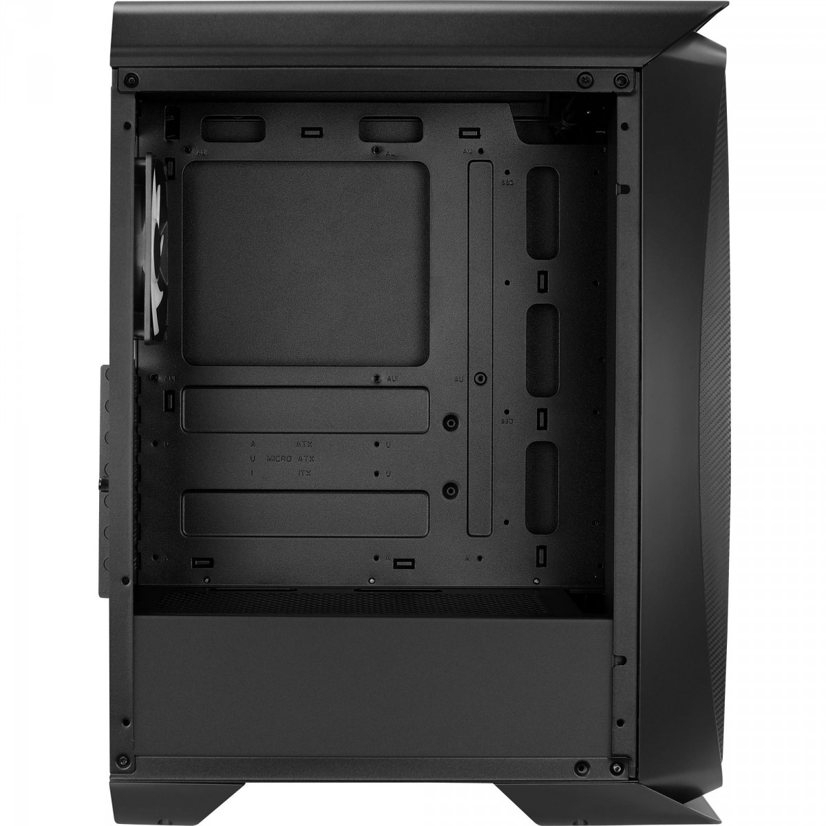 Gabinete Gamer Aerocool Aero One Frost, Mid Tower, S-Fan, Vidro Temperado, Black, S-Fonte