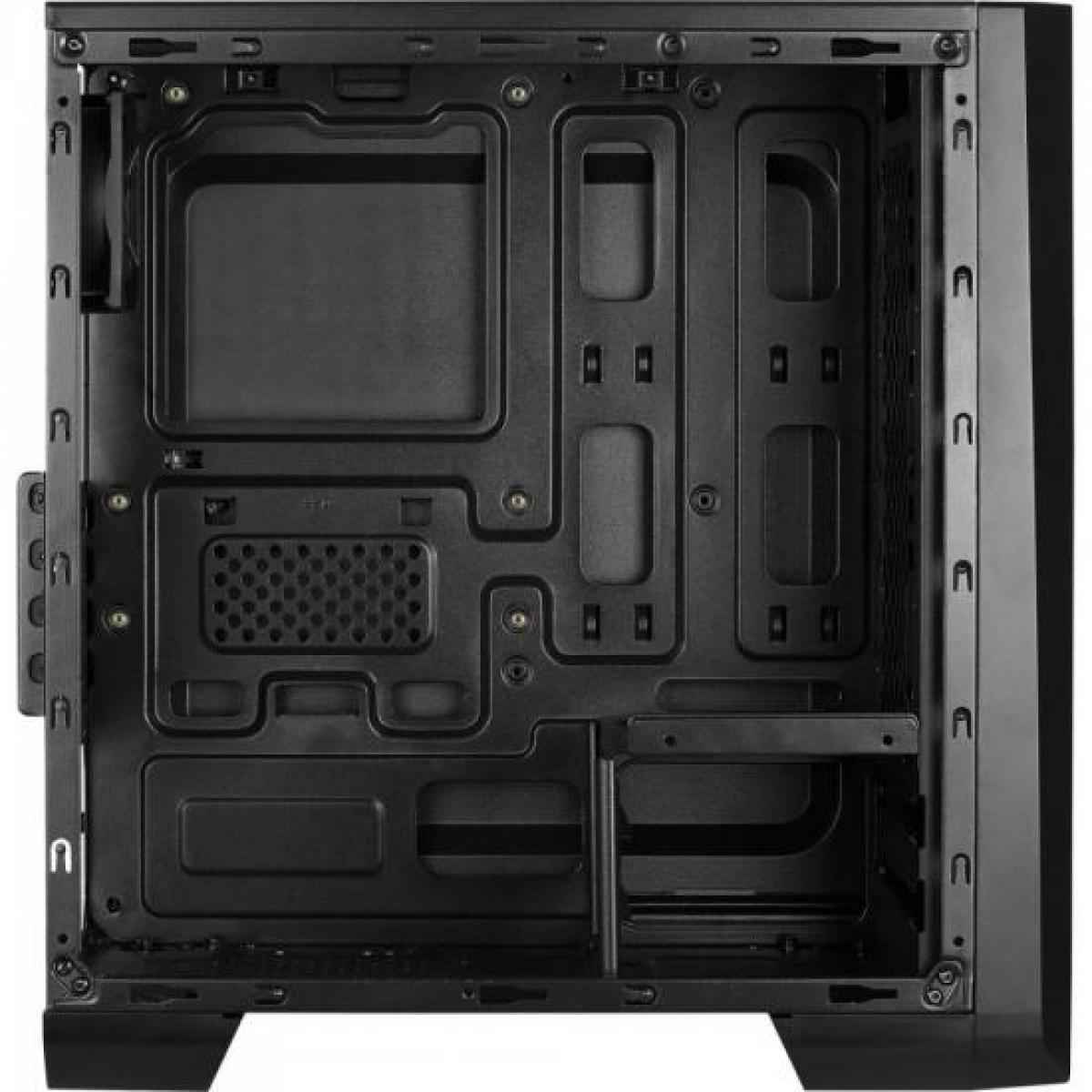 Gabinete Gamer Aerocool Mini Cylon RGB, Black, Mini Tower, Com 1 Fan, Lateral em Acrílico, Black, S-Fonte