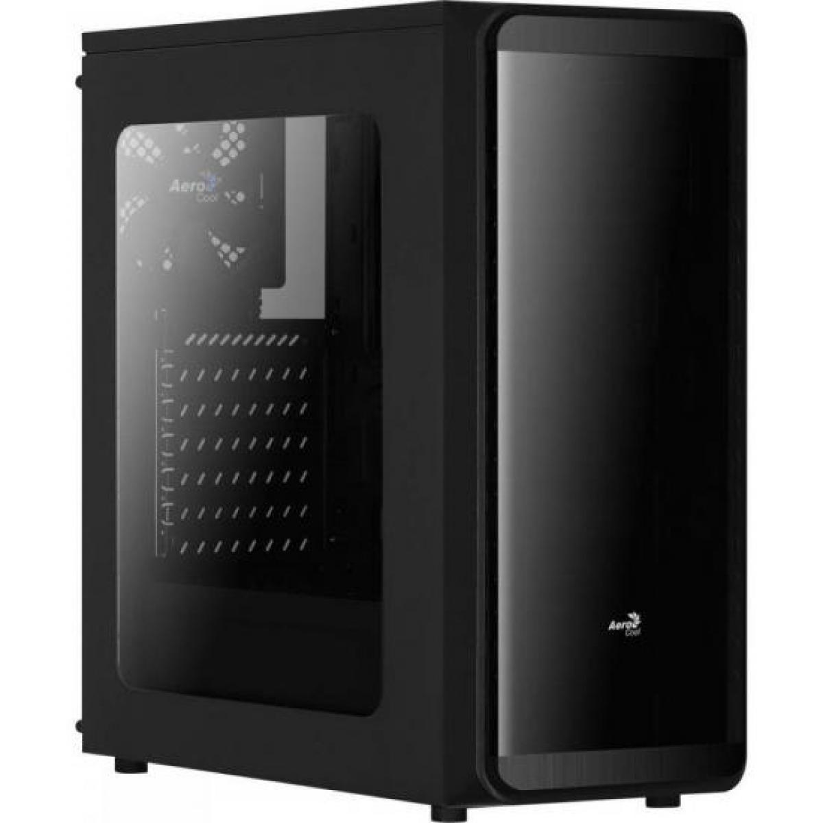 Gabinete Gamer Aerocool SI-5200 RGB, Mid Tower, Com 1 Fan, Lateral em Acrílico, Black, S-Fonte