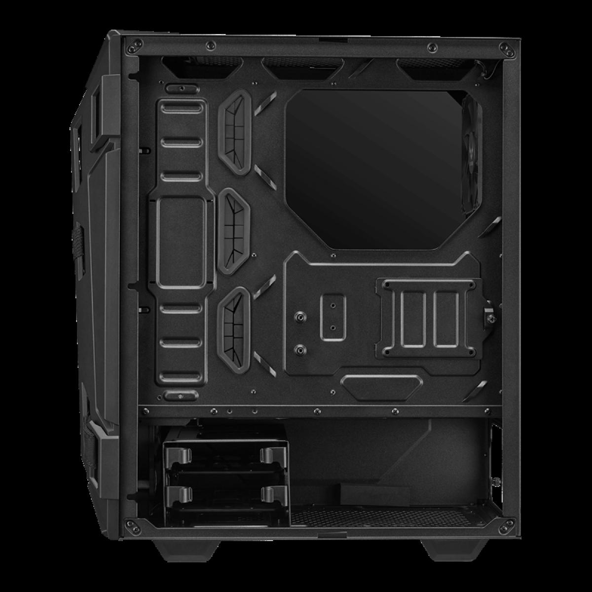 Gabinete Gamer ASUS TUF Gaming GT301, Mid-Tower, Vidro Temperado, Black, ATX, Sem Fonte, Com 4 Fans, 90DC0040-B40000