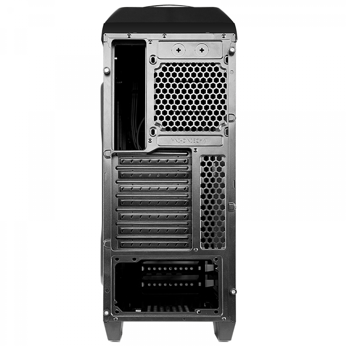 Gabinete Gamer Bluecase BG-024, Mid Tower, S-Fan, Black, S-Fonte
