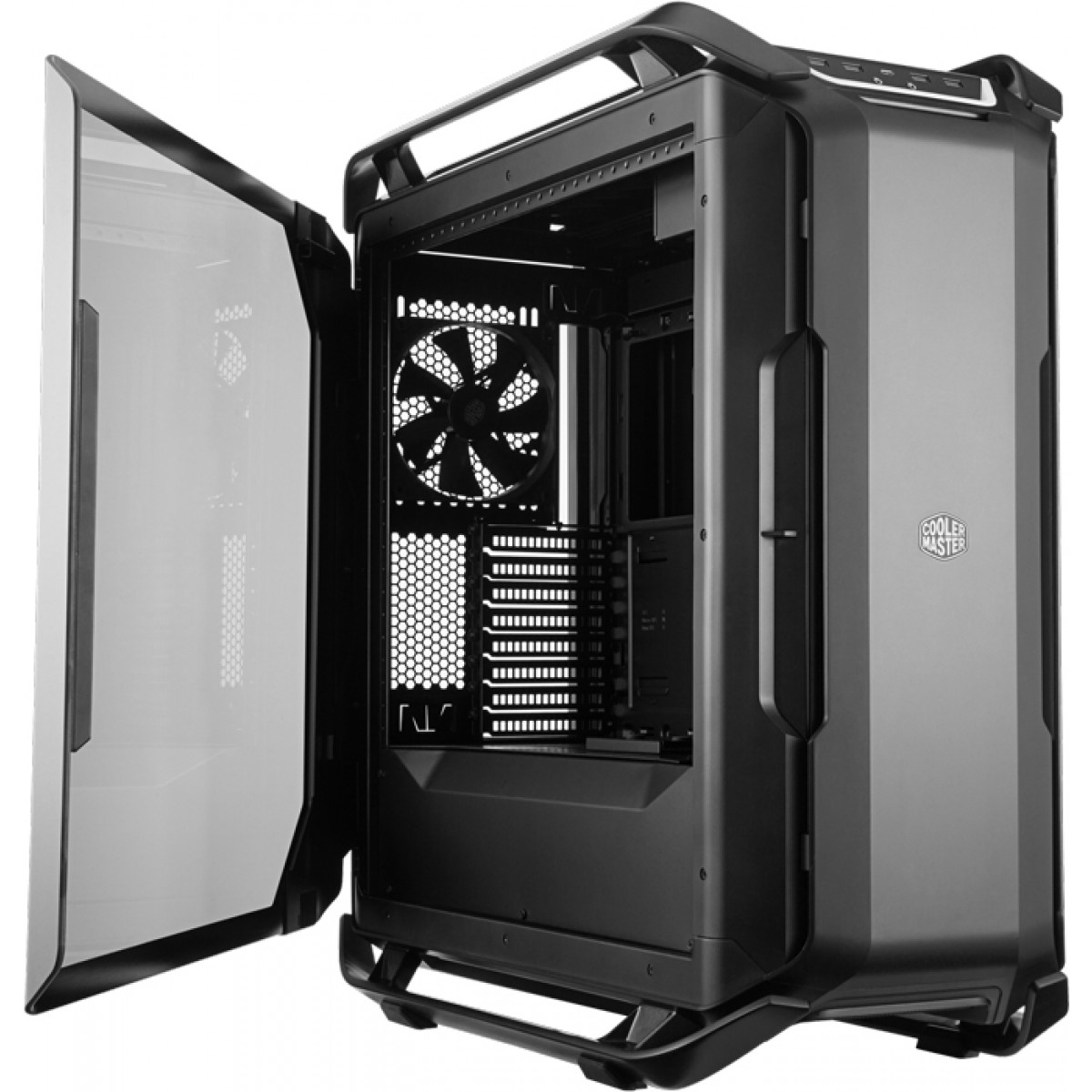 Gabinete Gamer Cooler Master Cosmos C700P Black Edition RGB, Full Tower, Com 3 Fans, Vidro Temperado, S-Fonte, MCC-C700P-KG5N-S00