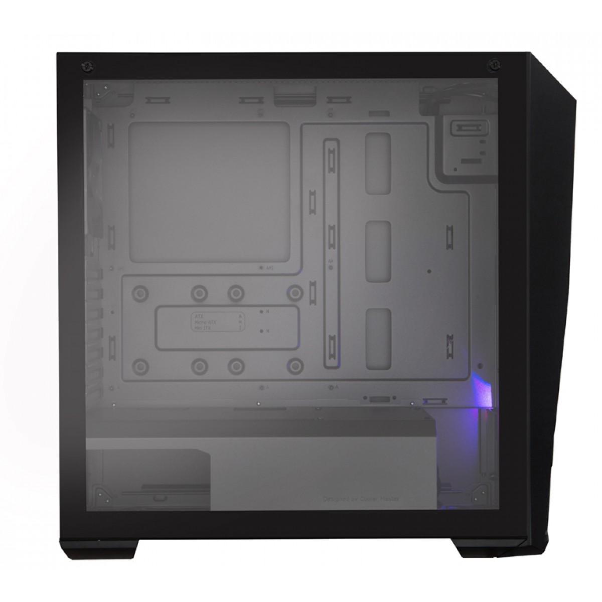 Gabinete Gamer Cooler Master K501L RGB, Mid Tower, Com 2 Fan, Black, Sem Fonte, MCB-K501L-KGNN-SR1