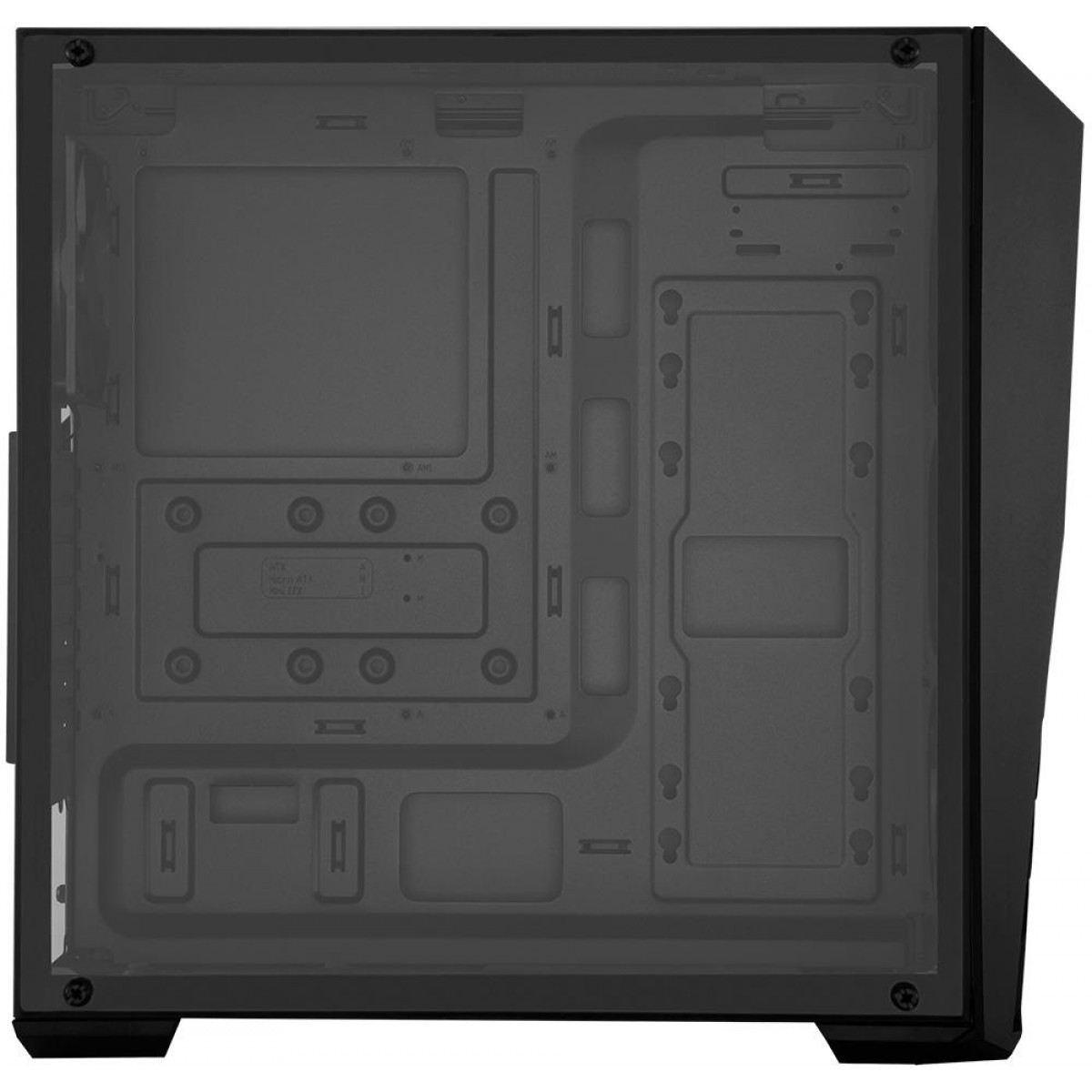 Gabinete Gamer Cooler Master K501L RGB, Mid Tower, Com 2 Fan, Black, S-Fonte, MCB-K501L-KGNN-SR1