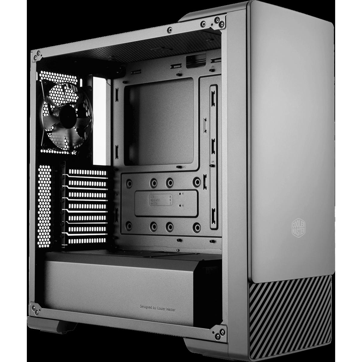 Gabinete Gamer Cooler Master Masterbox E500, Mid Tower, Black, Sem Fonte, Com 1 Fan, MCB-E500-KGNN-S00