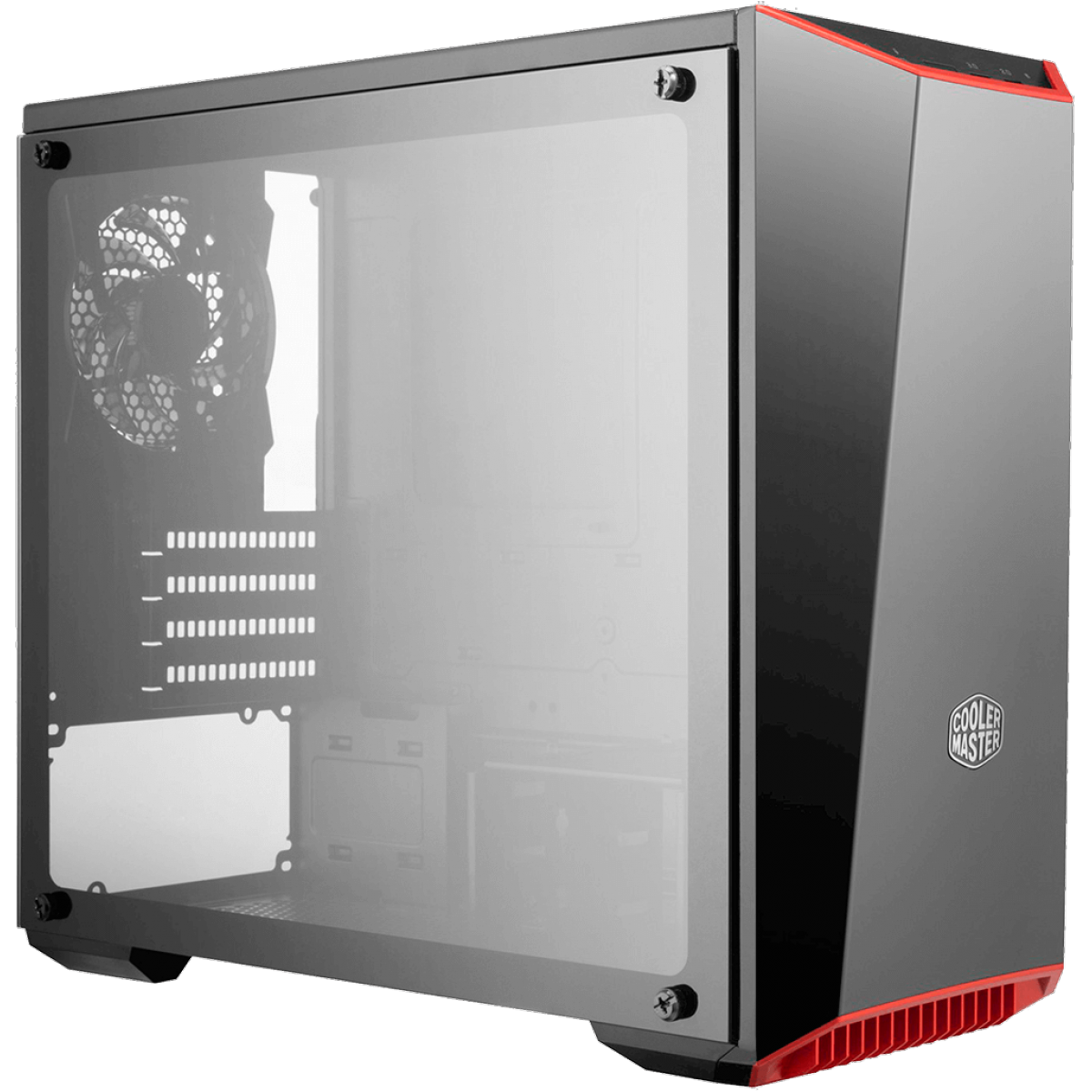 Gabinete Gamer Cooler Master, Masterbox Lite 3.1 TG, Mini Tower, Vidro Temperado, Black, Sem Fonte, Com 1 Fan