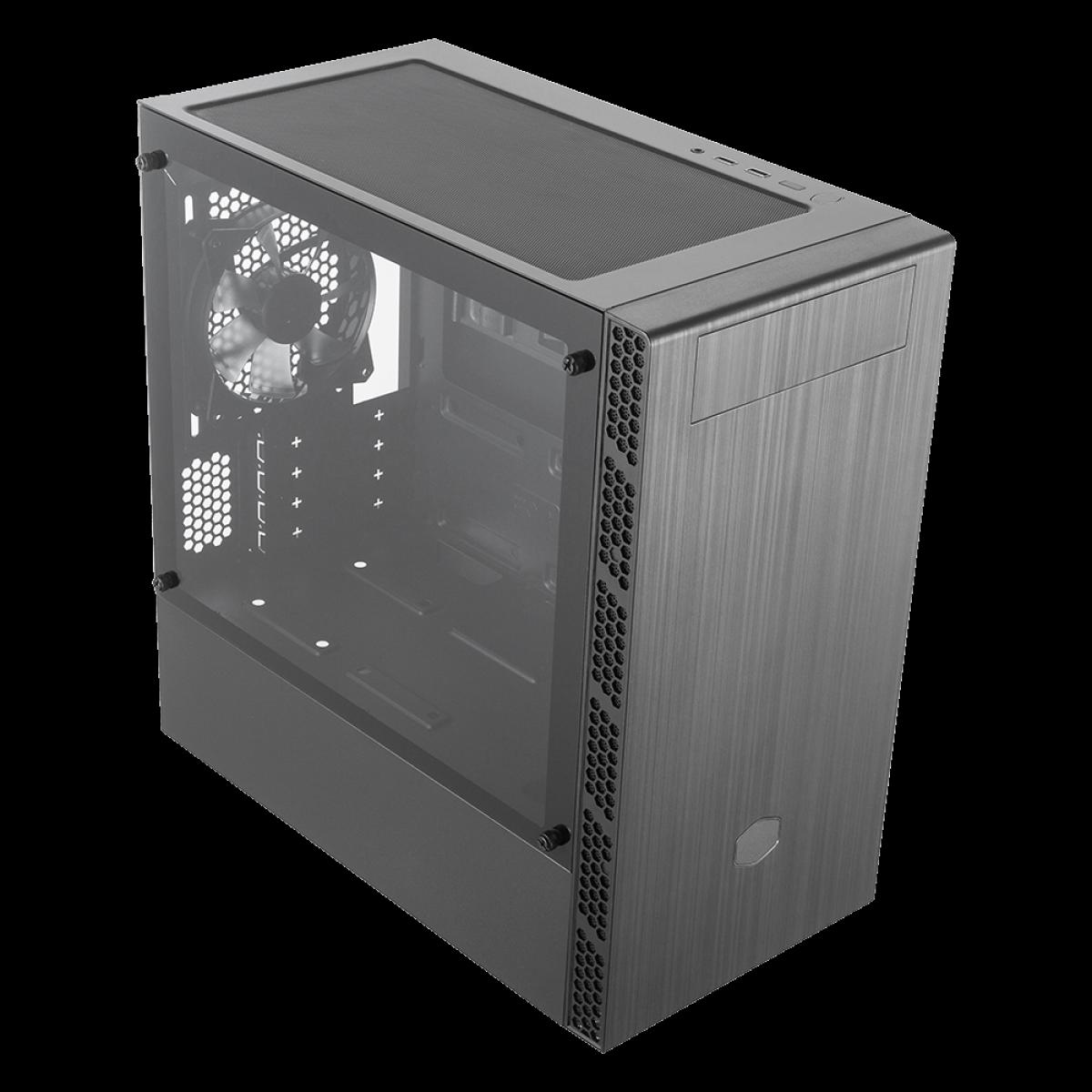 Gabinete Gamer Cooler Master Masterbox MB400L, Mini Tower, Black, MCB-B400L-KG5N-S00, Com ODD, Sem Fonte, Com 1 Fan
