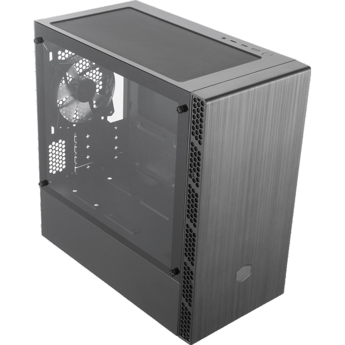 Gabinete Gamer Cooler Master Masterbox MB400L, Mini Tower, Black, Sem Fonte, Com 1 Fan, MCB-B400L-KGNN-S00