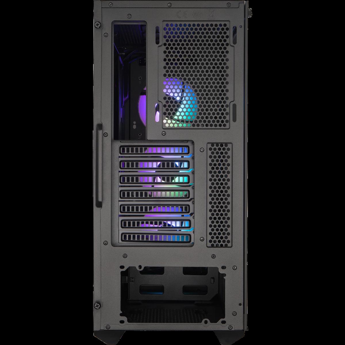 Gabinete Gamer Cooler Master Masterbox MB511, ARGB, Mid Tower, Black, Sem Fonte, Com 3 Fans, MCB-B511D-KGNN-RGA