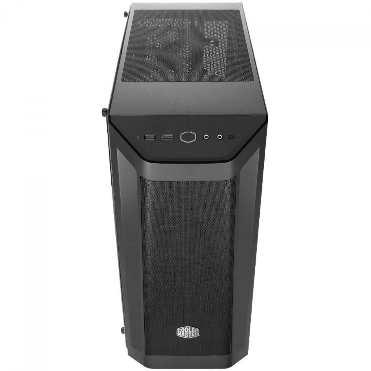 Gabinete Gamer Cooler Master Masterbox MB511, Mid Tower, Black, Sem Fonte, Com 1 Fan, MCB-B511D-KANN-S01