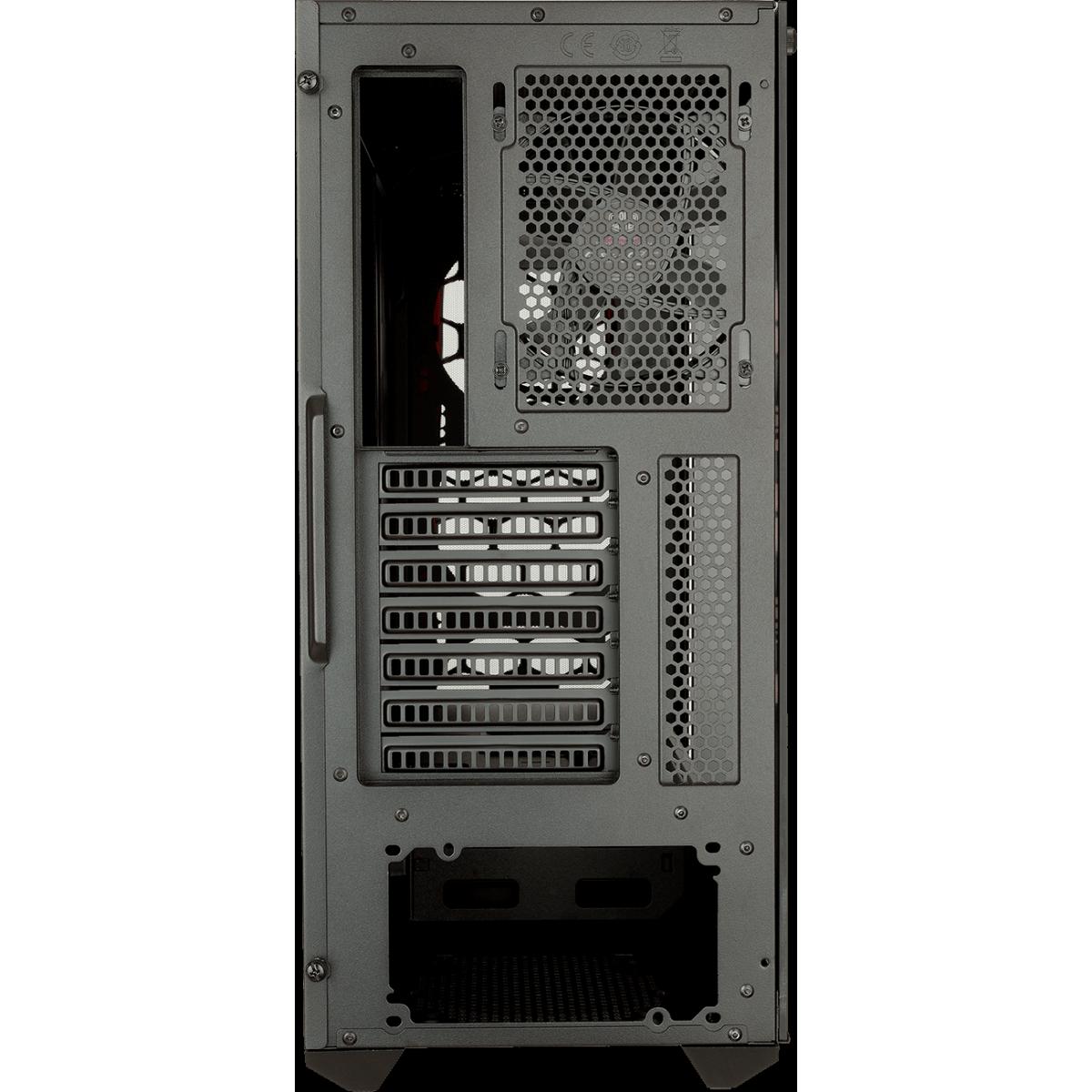 Gabinete Gamer Cooler Master Masterbox MB511 TG, Mid Tower, Vidro Temperado, Red, MCB-B511D-KGNN-S00, Sem Fonte, Com 1 Fan
