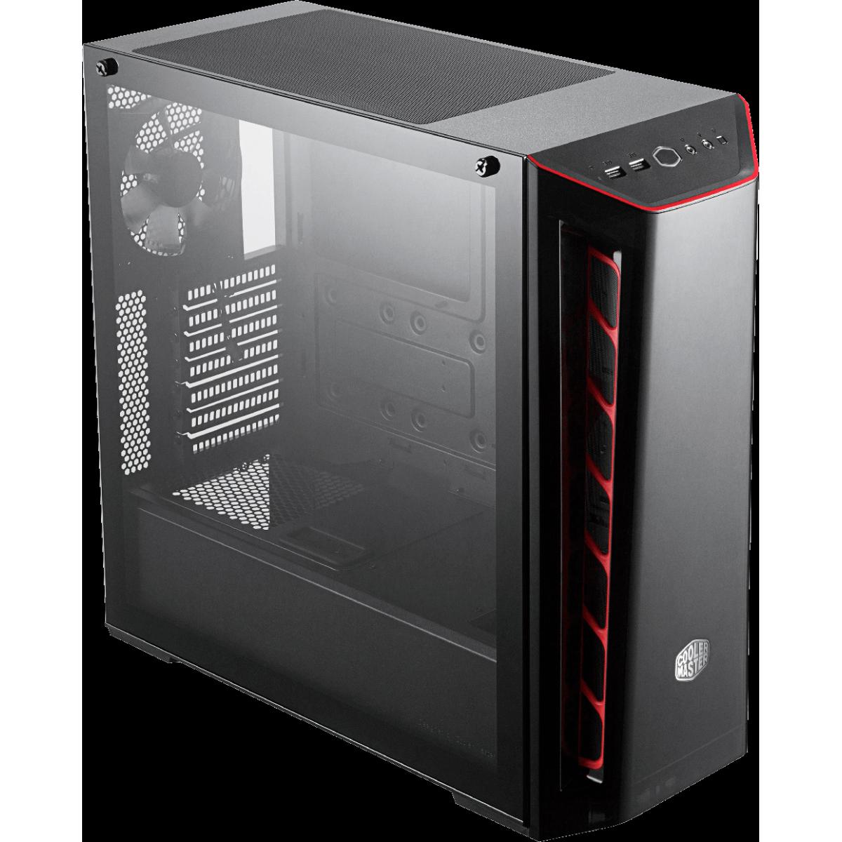 Gabinete Gamer Cooler Master Masterbox MB520 TG, Mid Tower, Vidro Temperado, Black, Sem Fonte, Com 1 Fan, MCB-B520-KGNN-S00