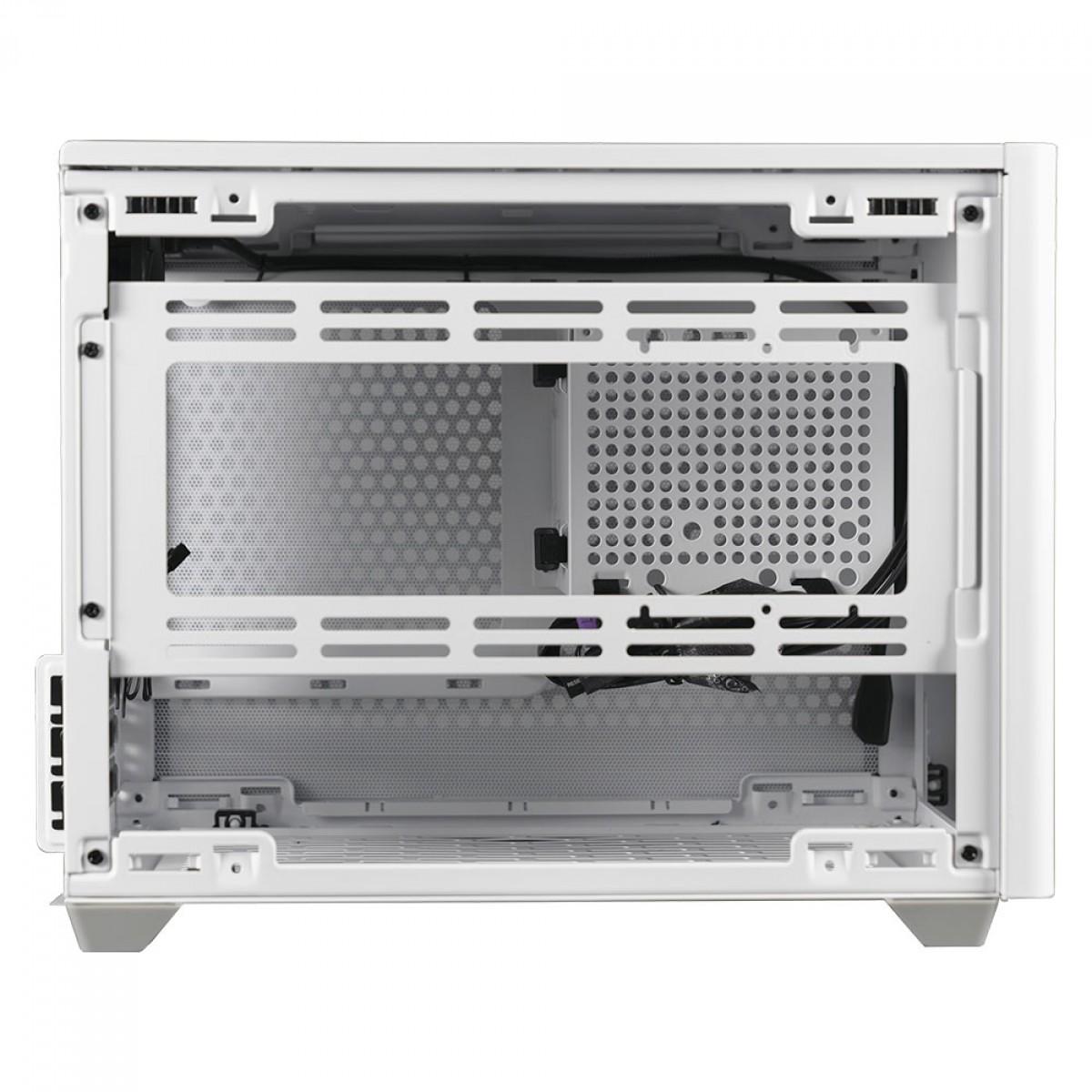 Gabinete Gamer Cooler Master MasterBox NR200, Vidro Temperado, White, Mini ITX, Sem Fonte, Com 2 Fans, MCB-NR200-WNNN-S00