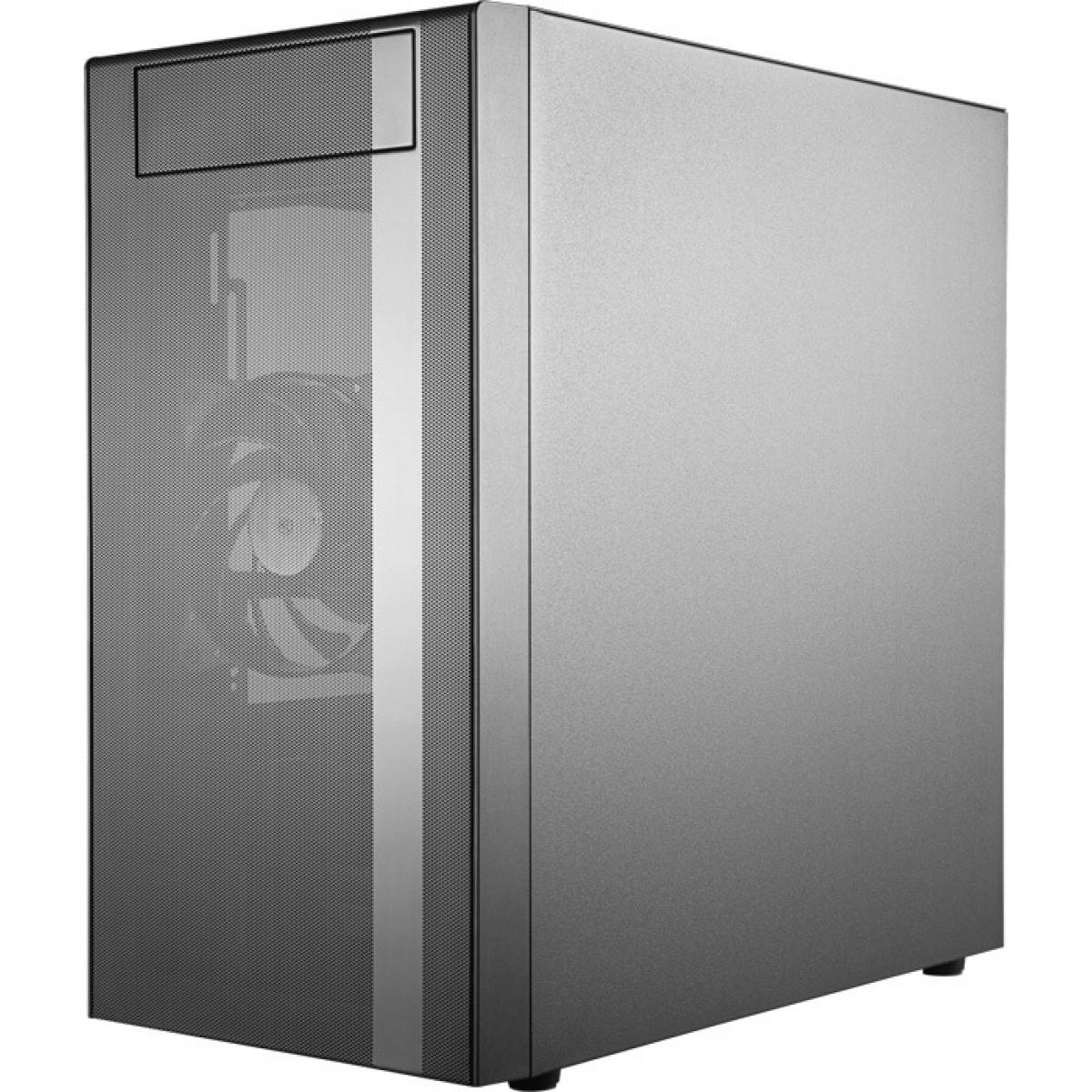 Gabinete Gamer Cooler Master, MasterBox NR400, Mini Tower, Vidro Temperado, Black, Sem Fonte, Com 2 Fans, MCB-NR400-KG5N-S00
