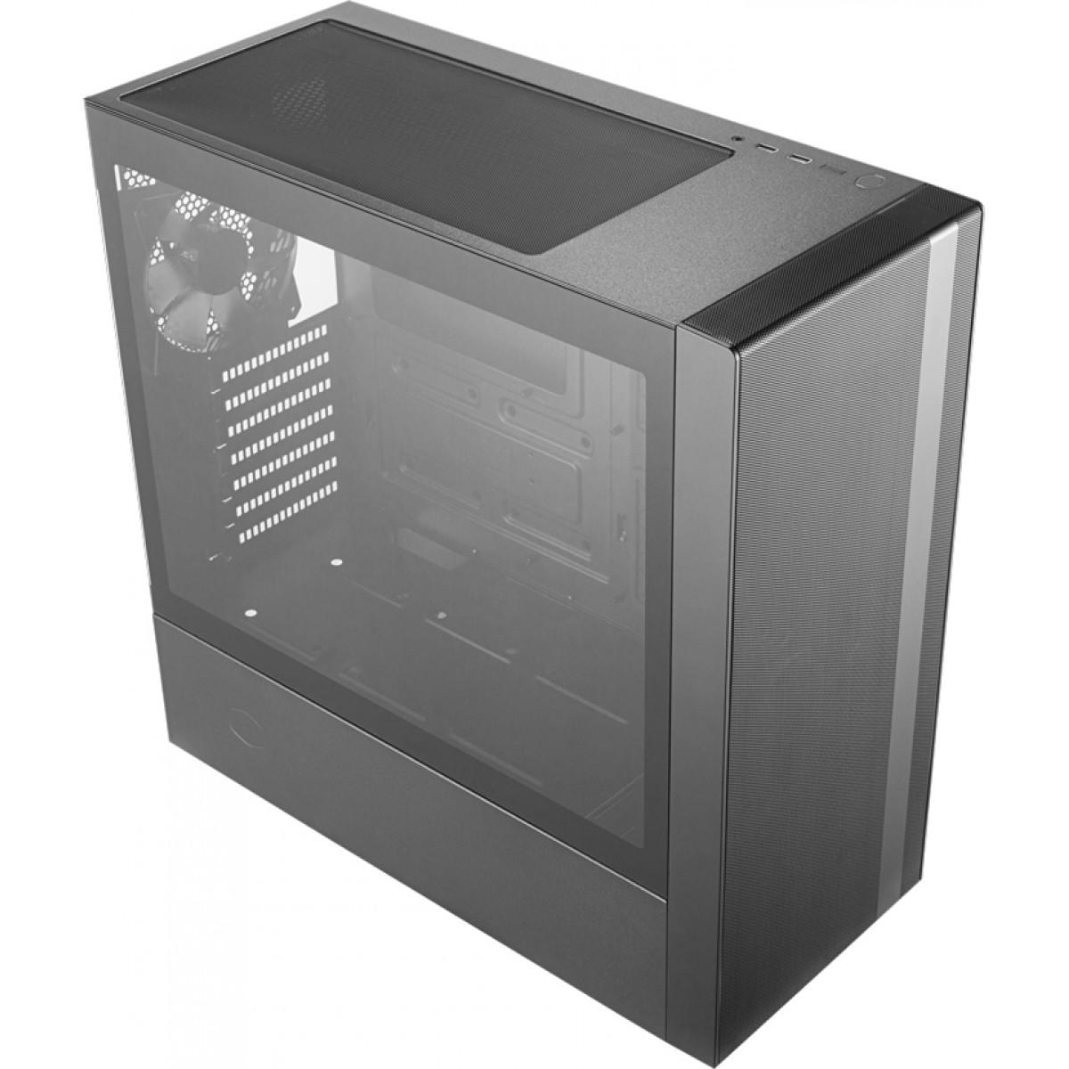 Gabinete Gamer Cooler Master MasterBox NR600, Mid Tower, Black, Sem Fonte, Com 2 Fans, MCB-NR600-KGNN-S00