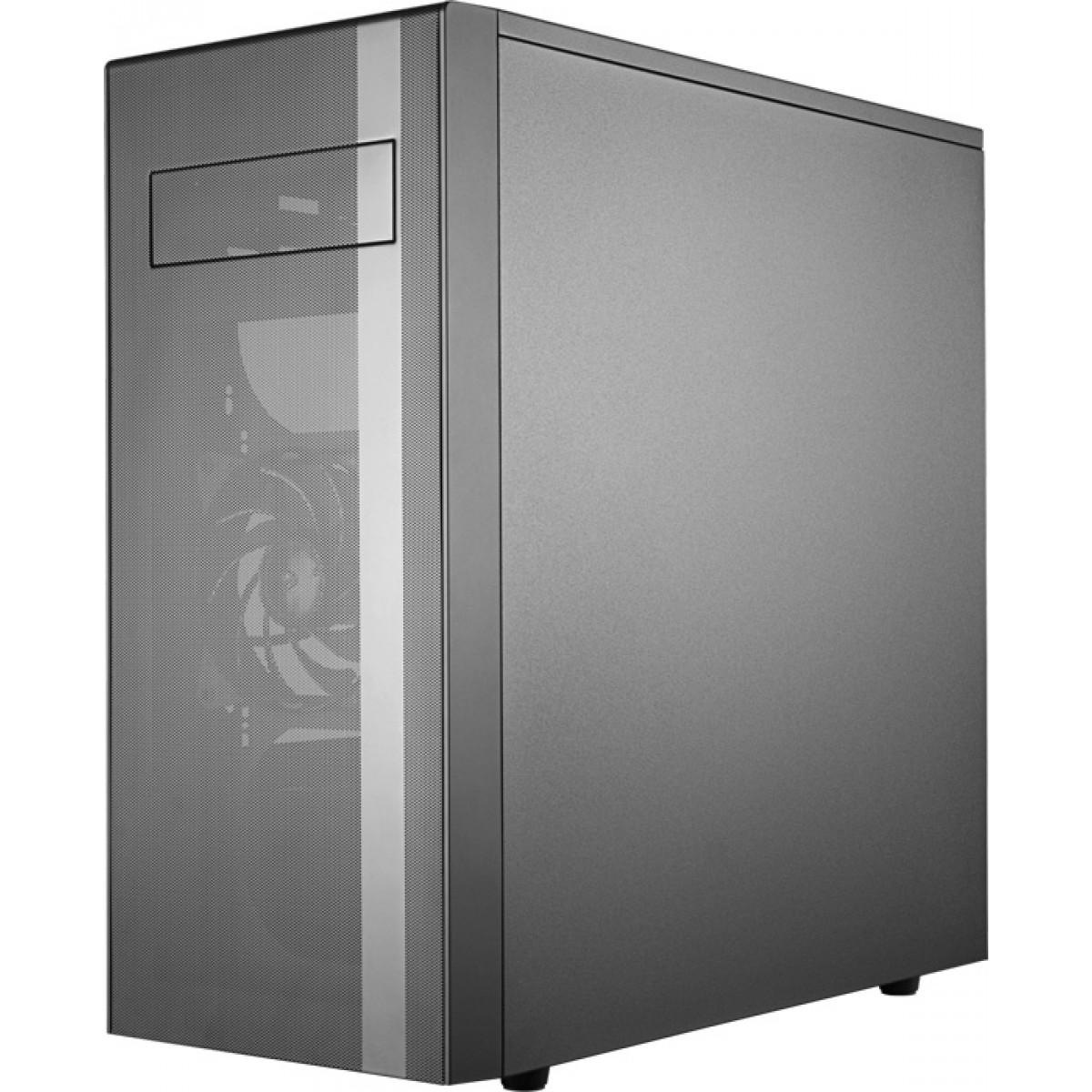 Gabinete Gamer Cooler Master, MasterBox NR600, Mid Tower, Vidro Temperado, Black, Sem Fonte, Com 2 Fans, MCB-NR600-KG5N-S00