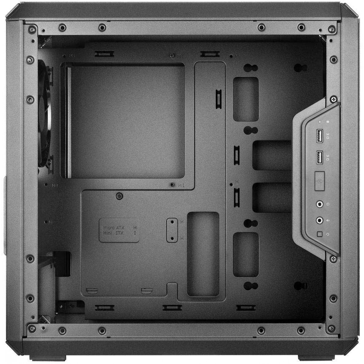 Gabinete Gamer Cooler Master Masterbox Q300L TUF, Mini Tower, Com 1 Fan, Black, Sem Fonte, MCB-Q300L-KANN-TUF