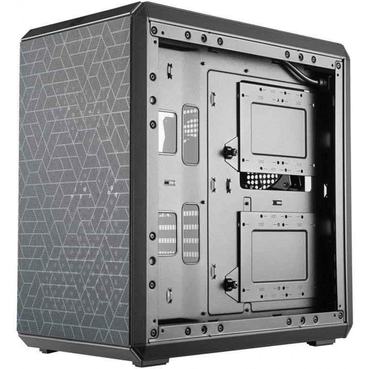 Gabinete Gamer Cooler Master Masterbox Q500L, Mid Tower, Black, Sem Fonte, Com 1 Fan, MCB-Q500L-KANN-S00