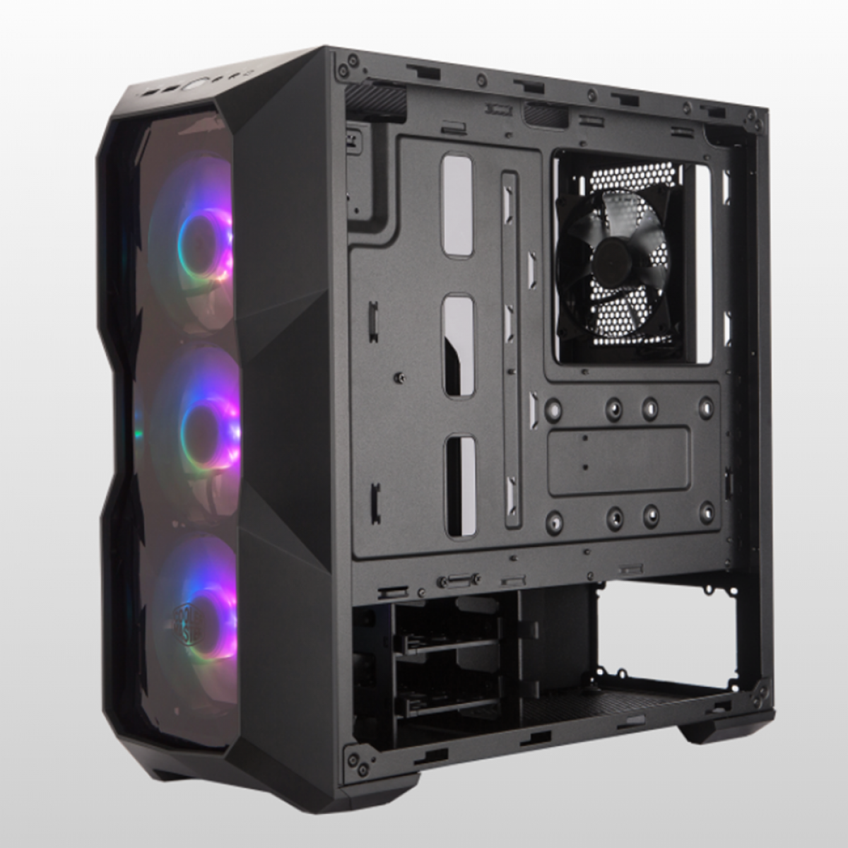 Gabinete Gamer Cooler Master Masterbox TD500 ARGB, Mid Tower, Black, Sem Fonte, Com 4 Fans, MCB-D500D-KANN-S01