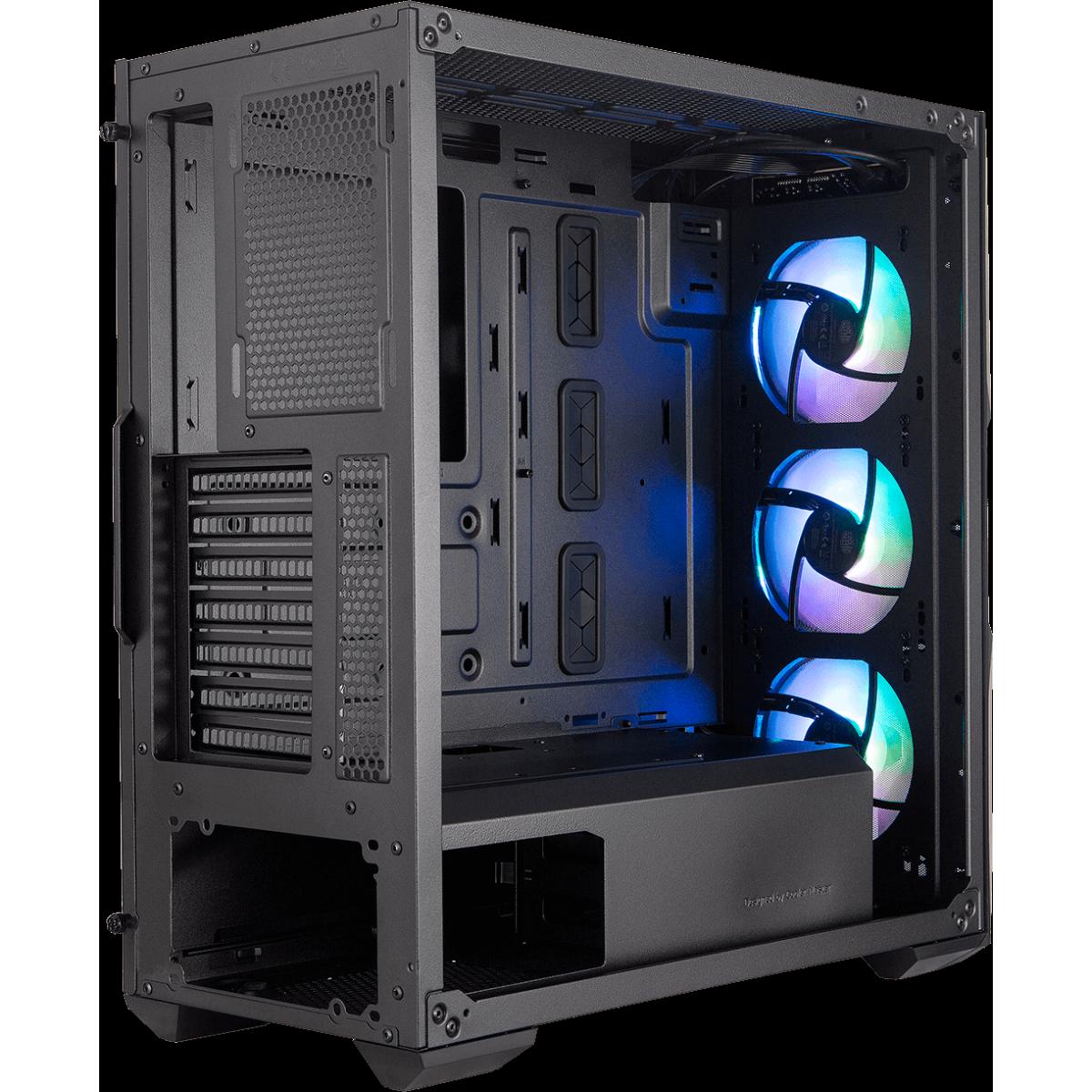 Gabinete Gamer Cooler Master Masterbox TD500 Mesh, Mid Tower, Vidro Temperado, Black, Sem Fonte, Com 3 Fans, MCB-D500D-KGNN-S01