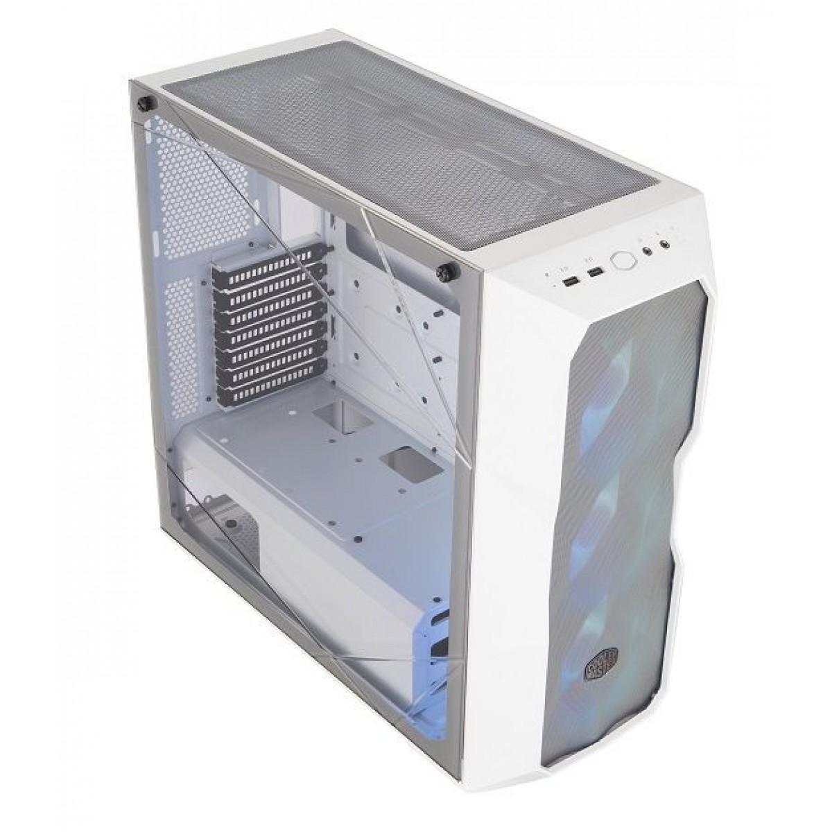 Gabinete Gamer Cooler Master Masterbox TD500 Mesh White, Mid Tower, Vidro Temperado, White, Sem Fonte, Com 3 Fans, MCB-D500D-WGNN-S01