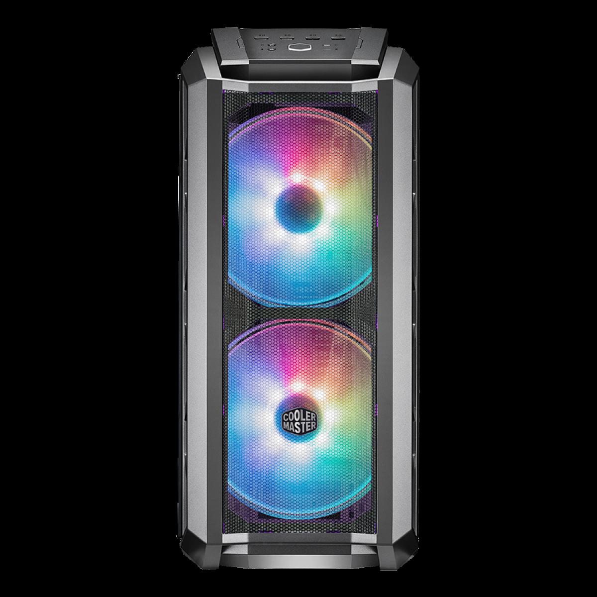 Gabinete Gamer Cooler Master MasterCase H500P Mesh ARGB, Mid Tower, Vidro Temperado, Gun Metal Grey, Sem Fonte, Com 3 Fans