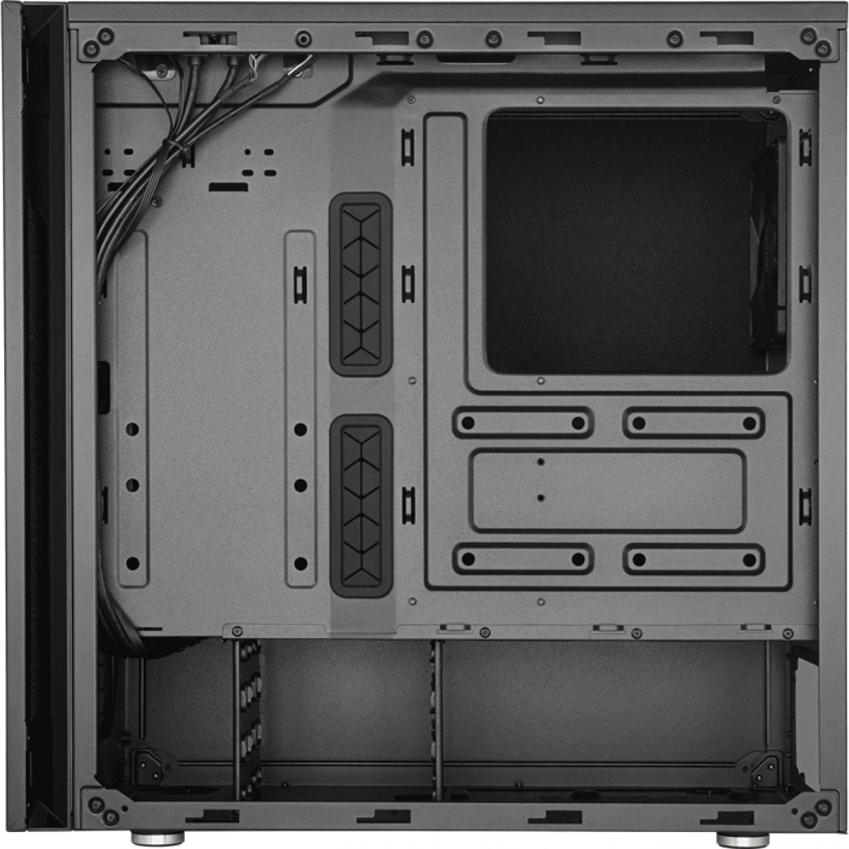 Gabinete Gamer Cooler Master Silencio S600, Mid Tower, Black, Sem Fonte, Com 2 Fans, MCS-S600-KG5N-S00