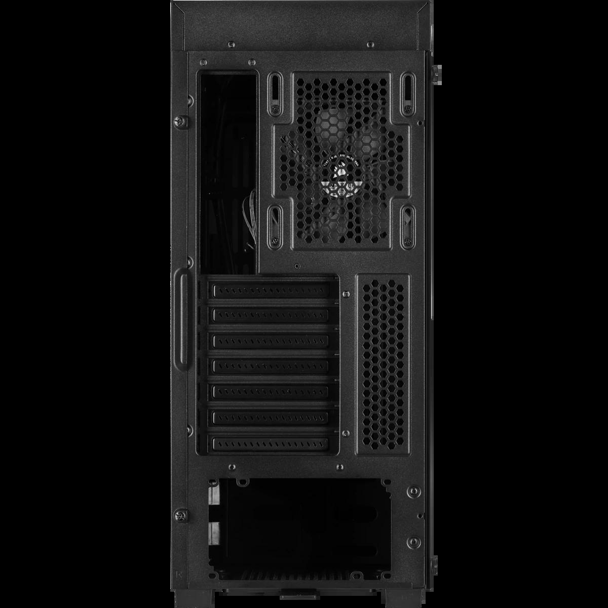 Gabinete Gamer Corsair, 110R, Mid Tower, Vidro Temperado, ATX, Black, CC-9011183-WW, Sem Fonte, Sem Fan