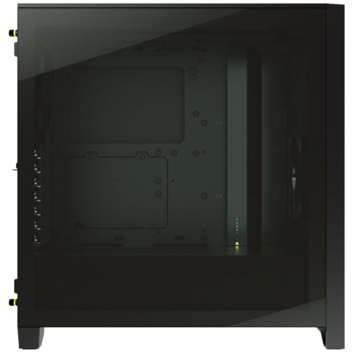 Gabinete Gamer Corsair 4000D Airflow, Mid Tower, Vidro Temperado, ATX, Black, Sem Fonte, Com 2 fans, CC-9011200-WW