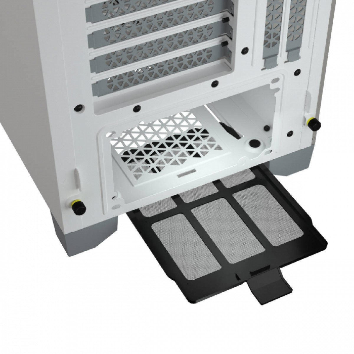 Gabinete Gamer Corsair 4000D Airflow, Mid Tower, Vidro Temperado, ATX, White, Sem Fonte, Com 2 fans, CC-9011201-WW