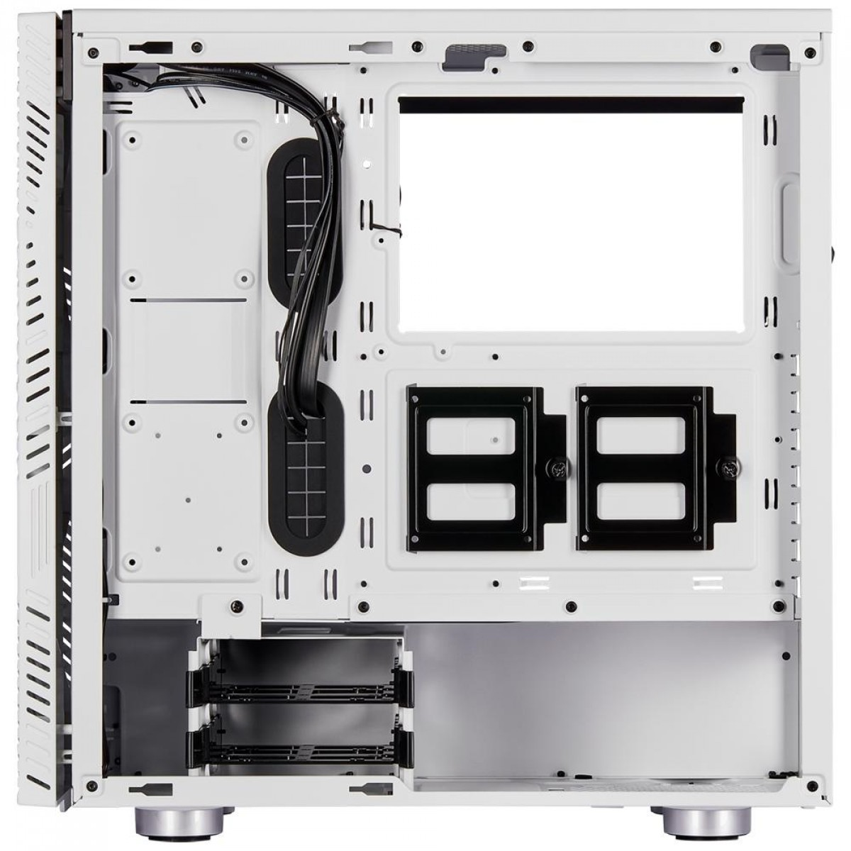 Gabinete Gamer Corsair Carbide 275R Airflow, Mid Tower, Com 3 Fans, Vidro Temperado, White, Sem Fonte CC-9011182-WW