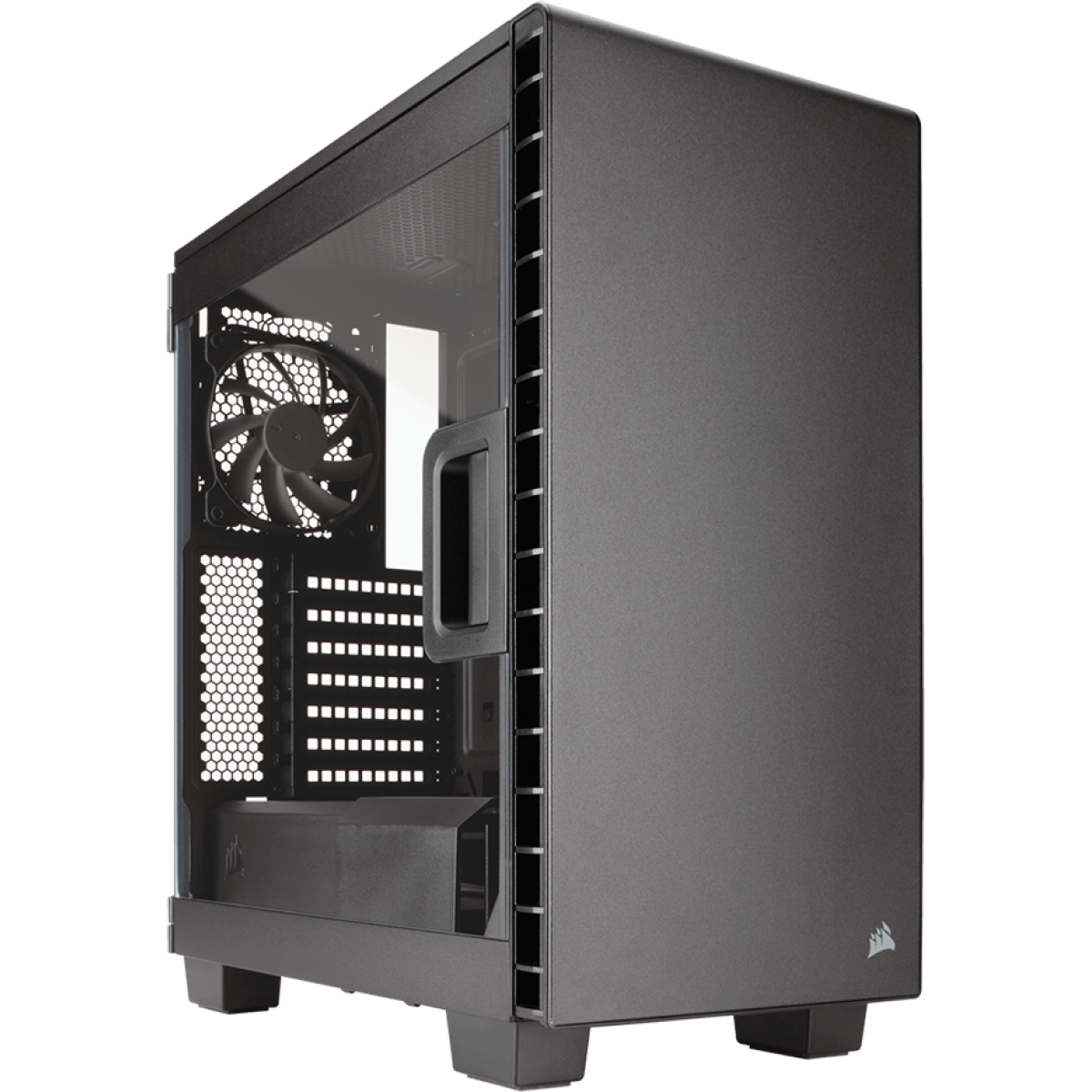 Gabinete Gamer Corsair Carbide Clear 400C, Mid Tower, Com 2 Fans, Lateral em Acrílico, Black Sem Fonte, CC-9011081-WW