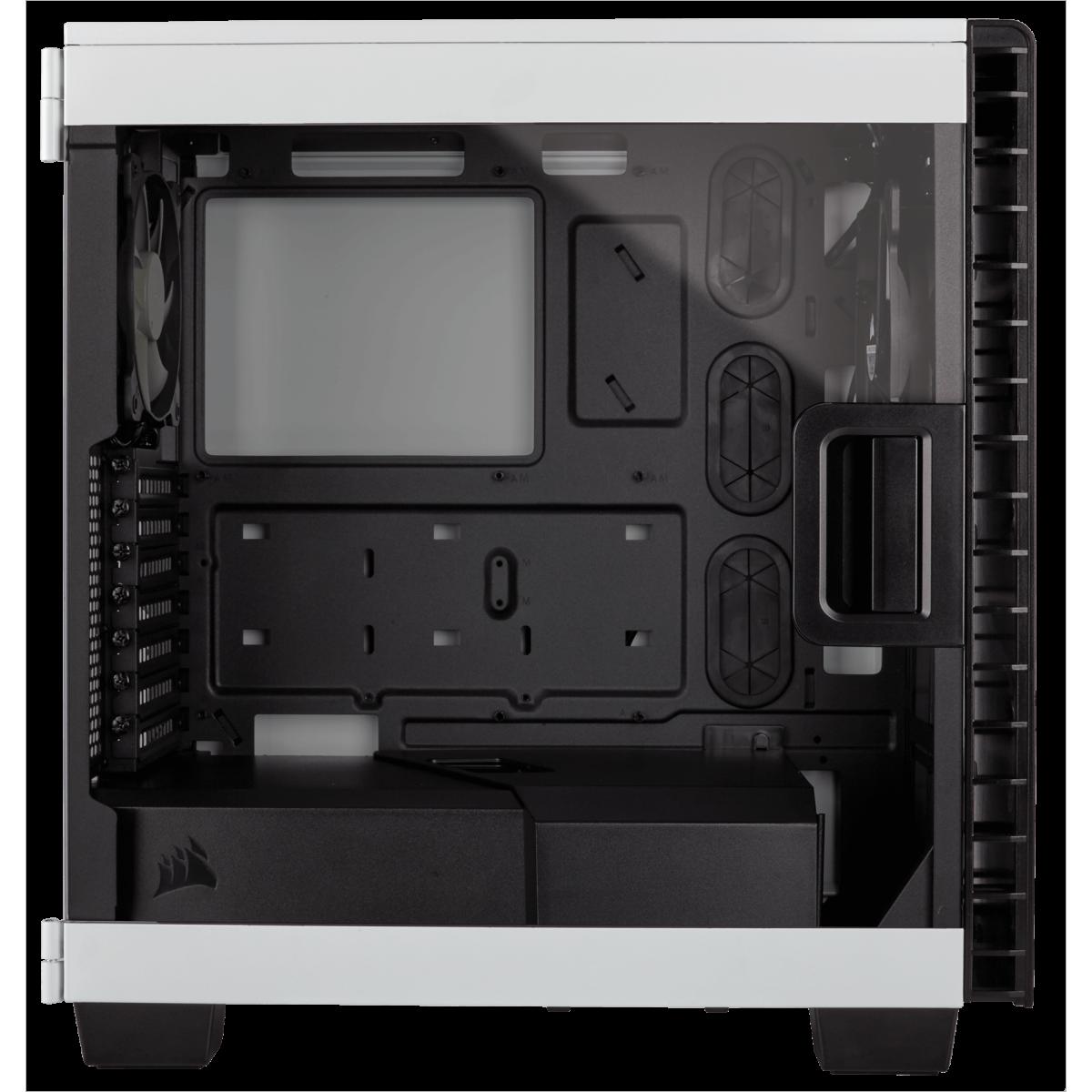 Gabinete Gamer Corsair Carbide Clear 400C, Mid Tower, Com 2 Fans, Lateral em Acrílico, White, S-Fonte, CC-9011095-WW