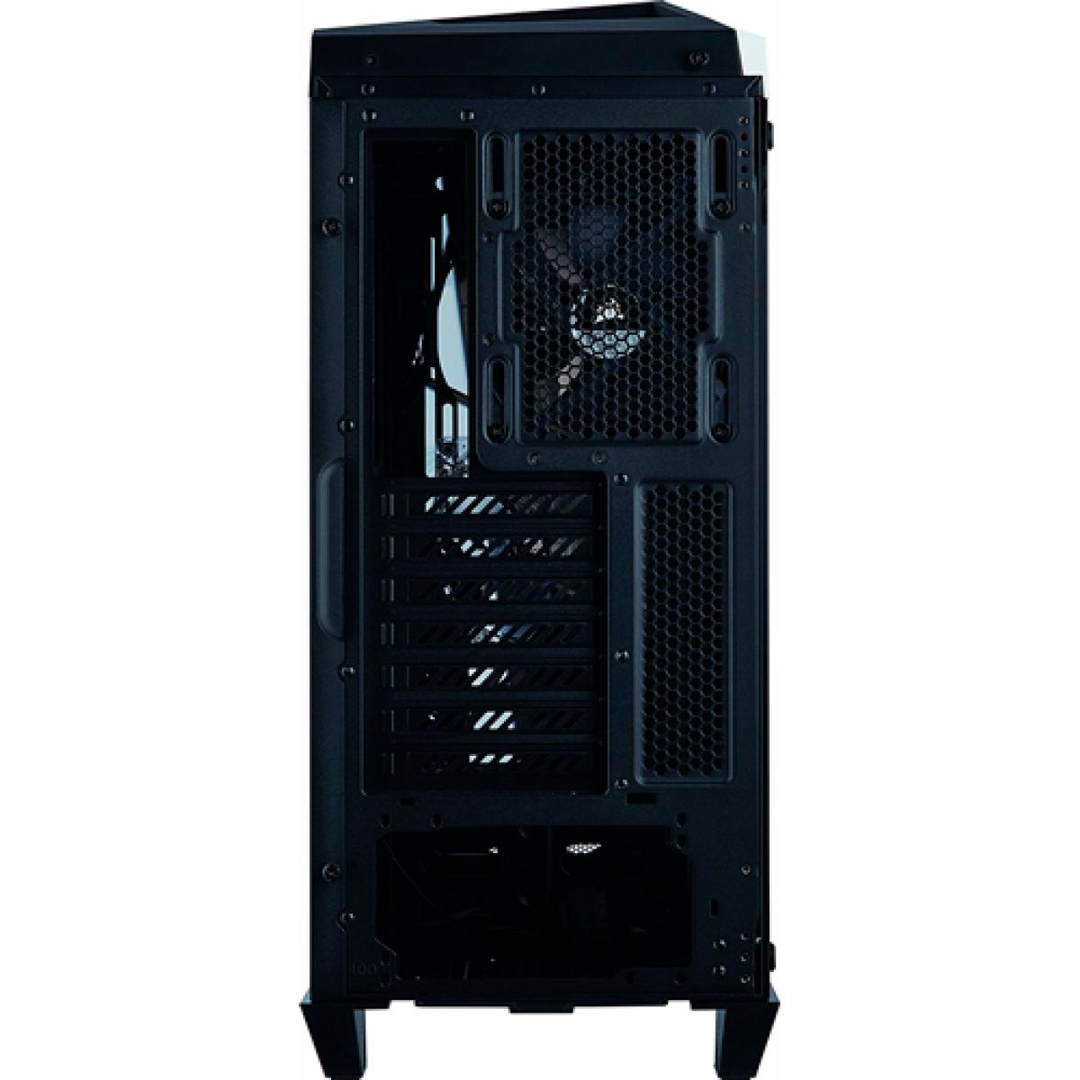 Gabinete Gamer Corsair Carbide Spec-Omega, Mid Tower, Com 2 Fans, Vidro Temperado, Black-White, S-Fonte, CC-9011119-WW