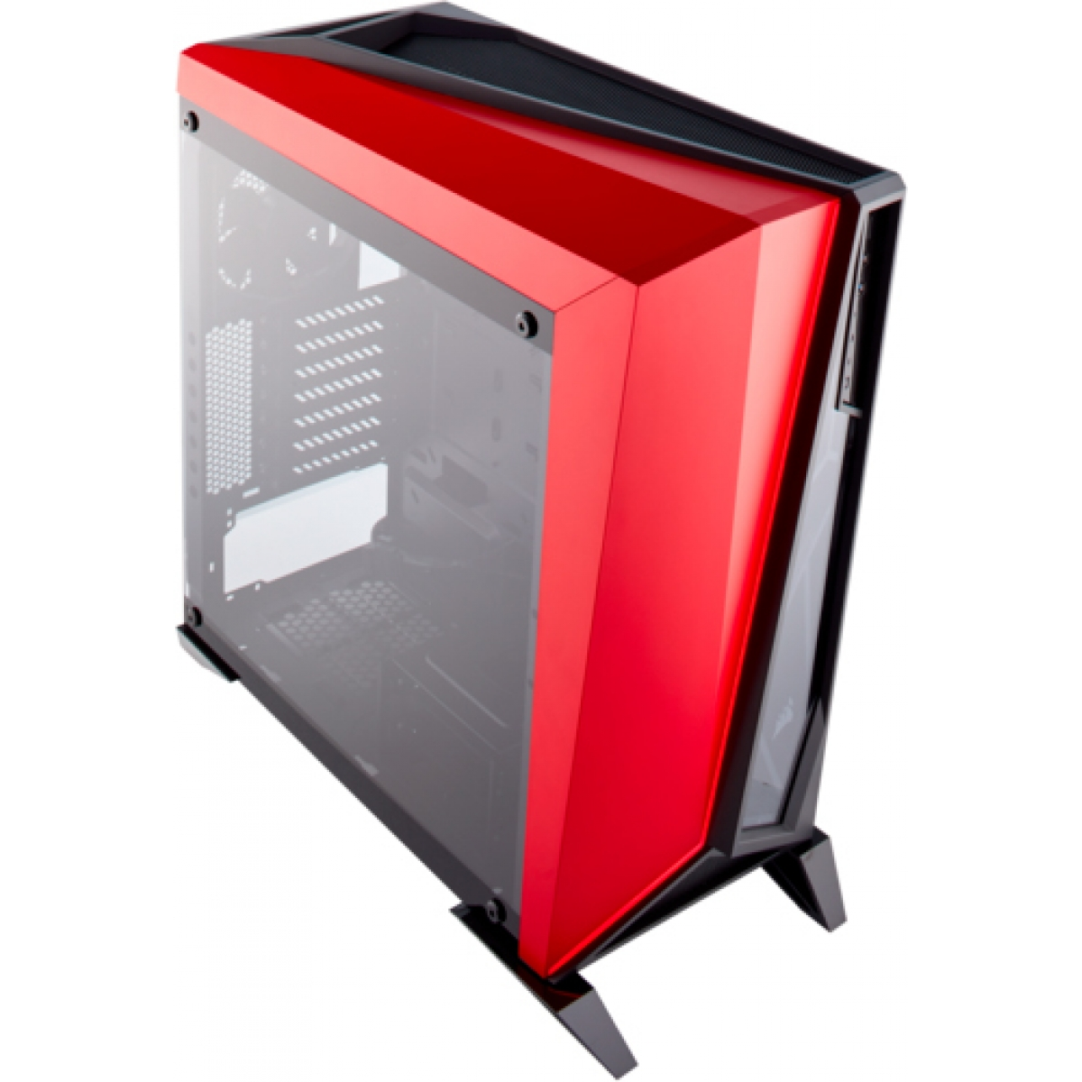 Gabinete Gamer Corsair Carbide Spec-Omega, Mid Tower, Com 2 Fans, Vidro Temperado, Black-Red, S-Fonte, CC-9011120-WW