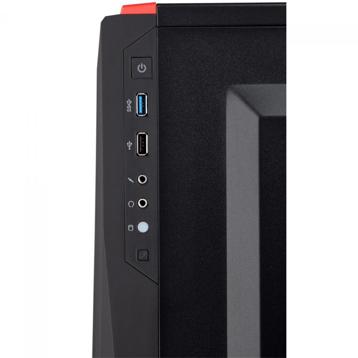 Gabinete Gamer Corsair Carbide SPEC-04, Mid Tower, Com 1 Fan, Vidro Temperado, Black/Red, Sem Fonte, CC-9011117-WW