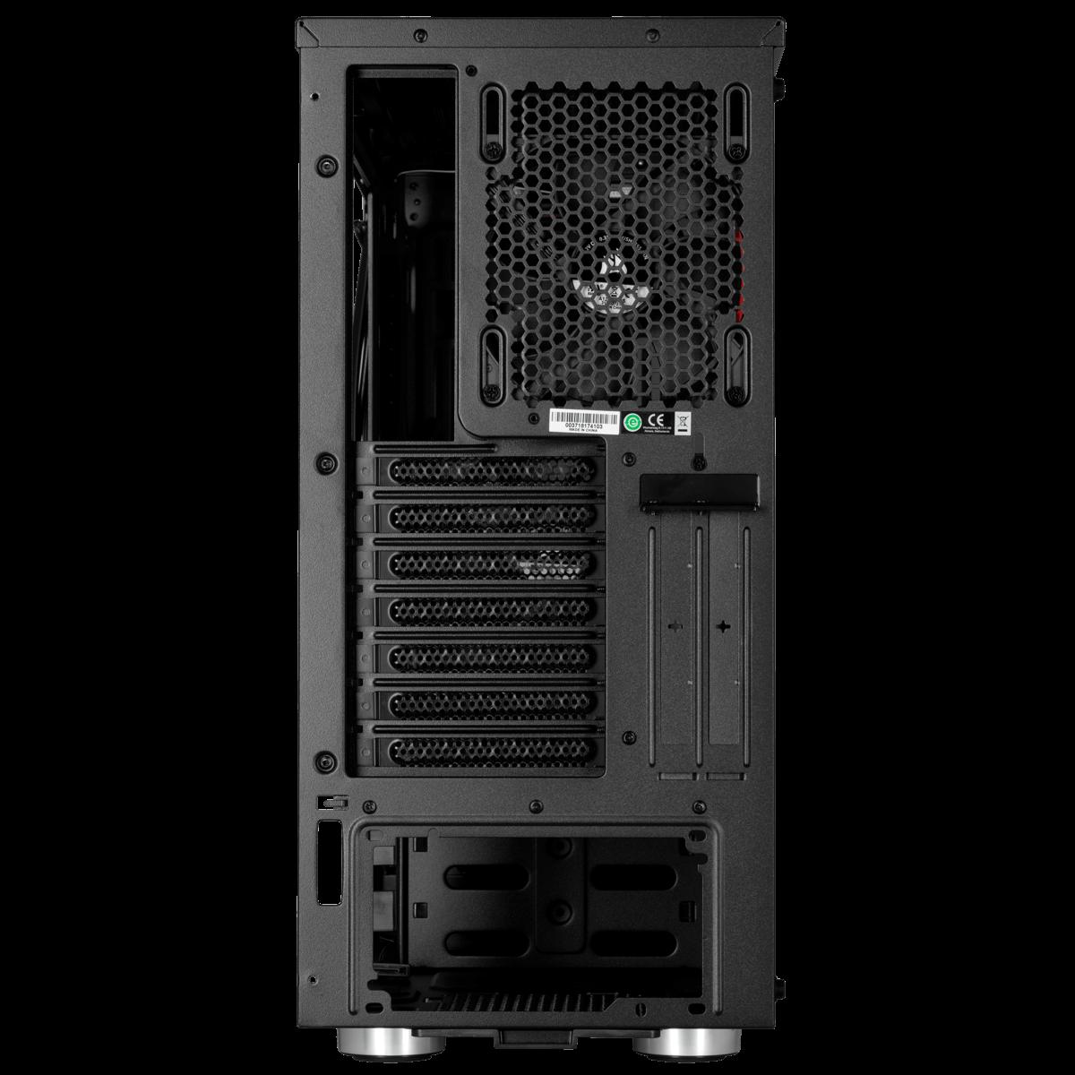 Gabinete Gamer Corsair Carbide SPEC-06, Mid Tower, Com 2 Fan, Vidro temperado, Black, Sem Fonte, CC-9011144-WW