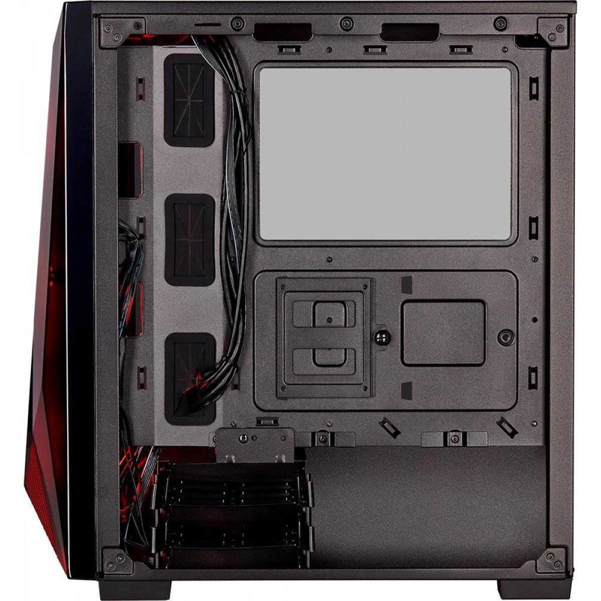 Gabinete Gamer Corsair, Carbide Spec Delta RGB, Mid Tower, Vidro Temperado, Black, Sem Fonte, Com 3 Fans, CC-9011166-WW