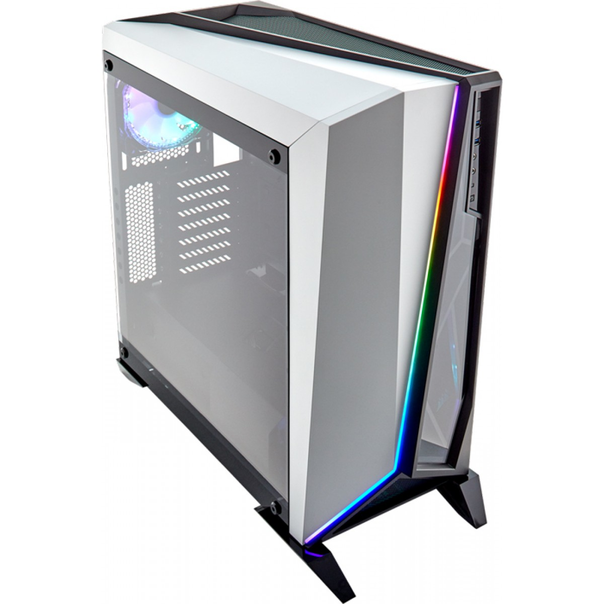 Gabinete Gamer Corsair Carbide Spec-Omega RGB, Mid Tower, Com 2 Fans, Vidro Temperado, White, Sem Fonte, CC-9011141-WW