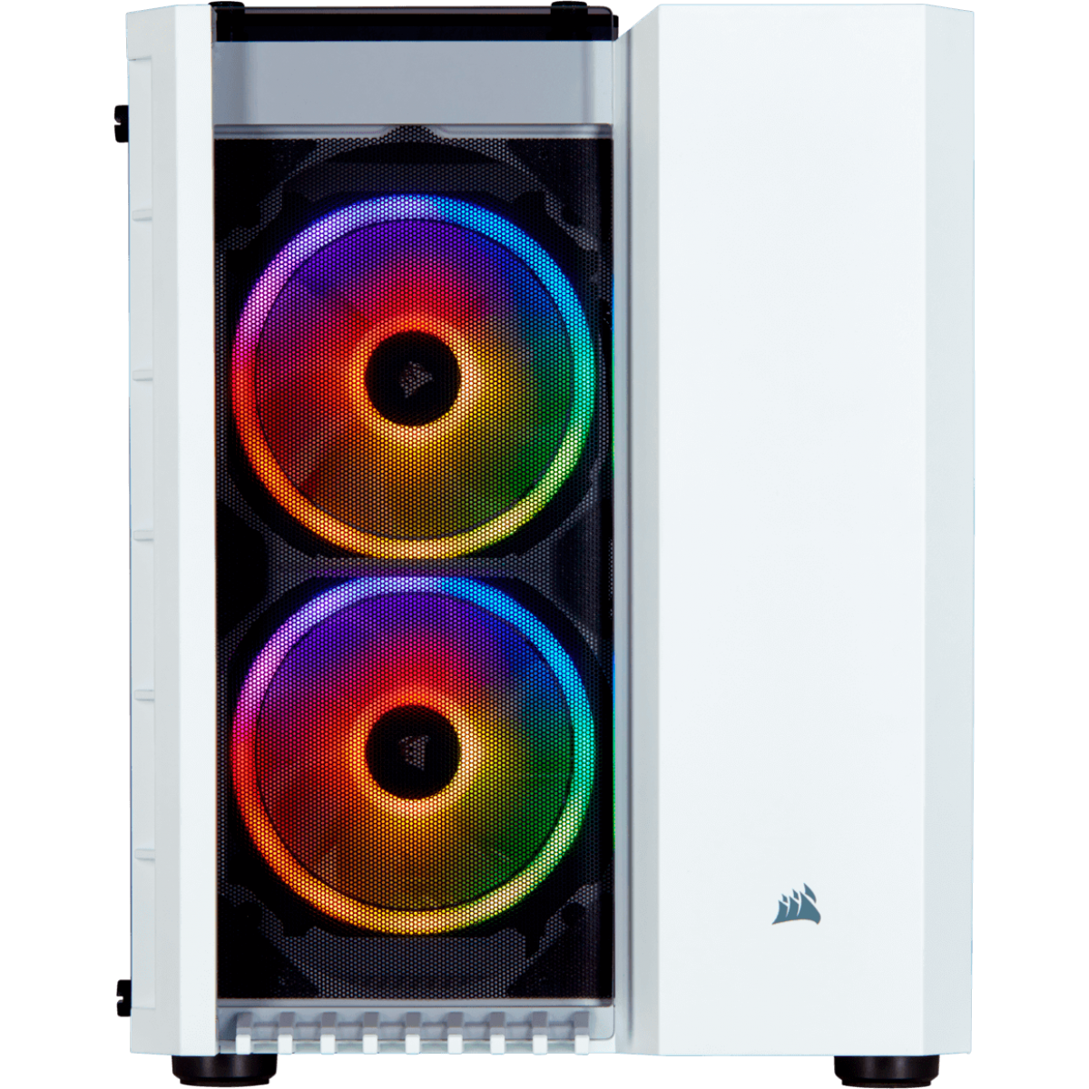 Gabinete Gamer Corsair Crystal 280x RGB, Mini Tower, Vidro Temperado, White, Sem Fonte, CC-9011137-WW