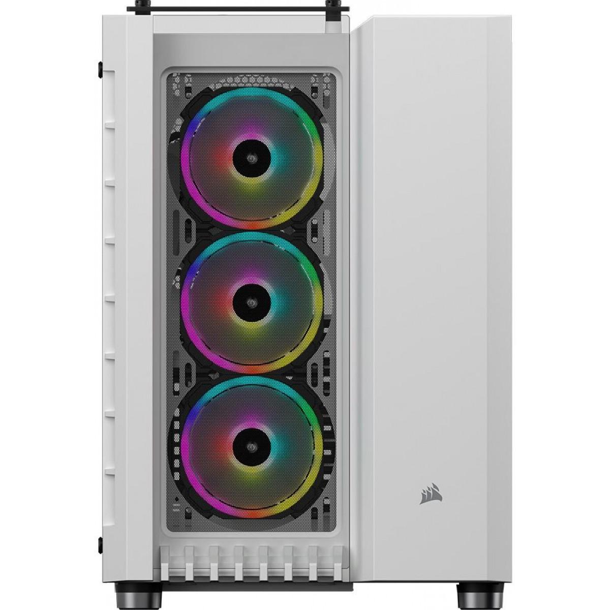 Gabinete Gamer Corsair Crystal 680x RGB, Full Tower, Vidro Temperado, 4 Fans, White, S-Fonte, CC-9011169-WW