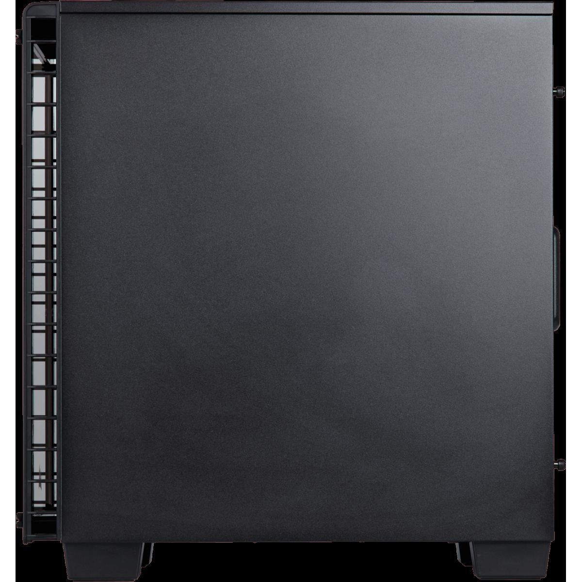 Gabinete Gamer Corsair Crystal 460X, Mid Tower, Com 2 Fans, Vidro Temperado, Black Sem Fonte, CC-9011099-WW