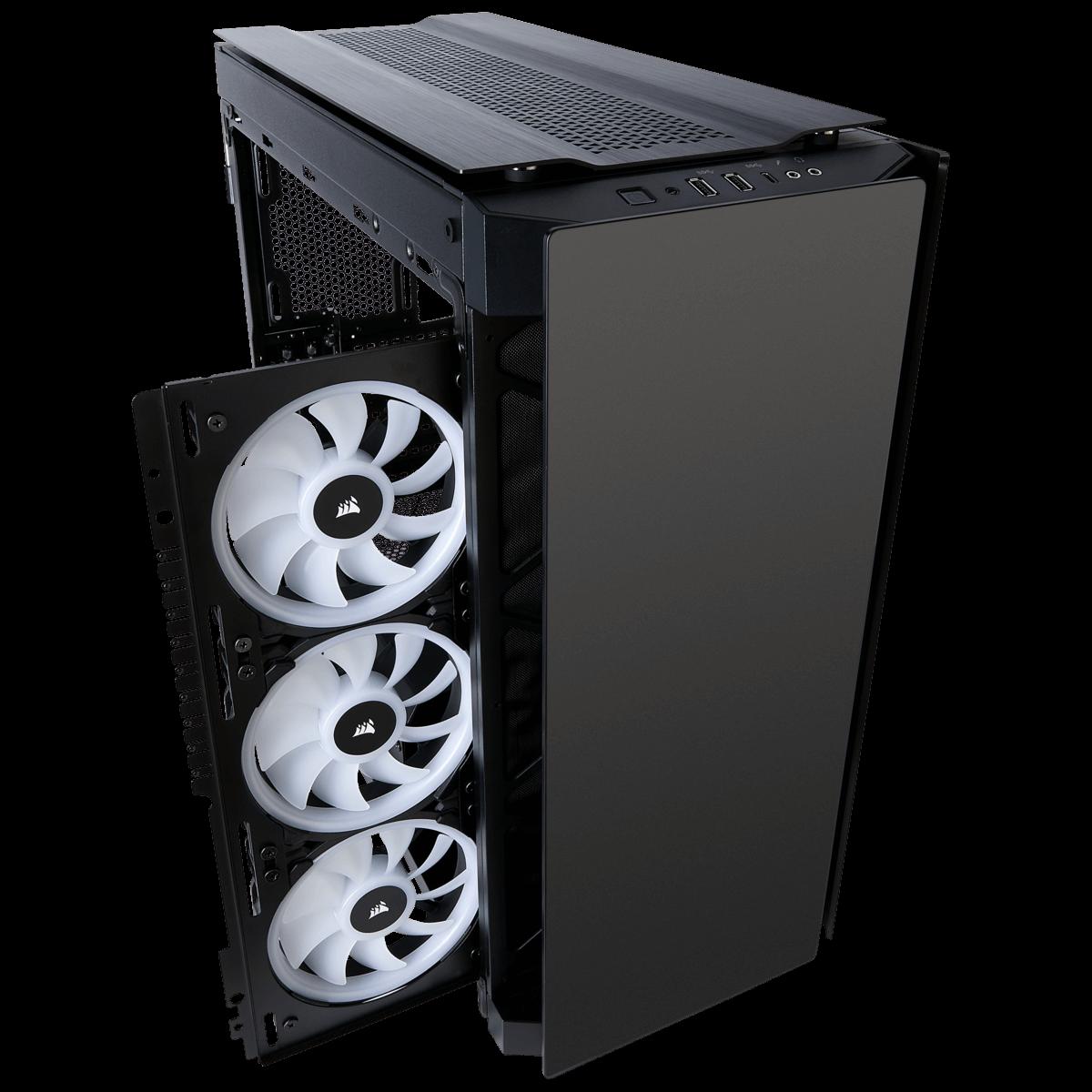 Gabinete Gamer Corsair Obsidian 500D RGB SE Premium, MidTower, Com 3 Fan, Vidro Temperado, Sem Fonte, CC-9011139-WW