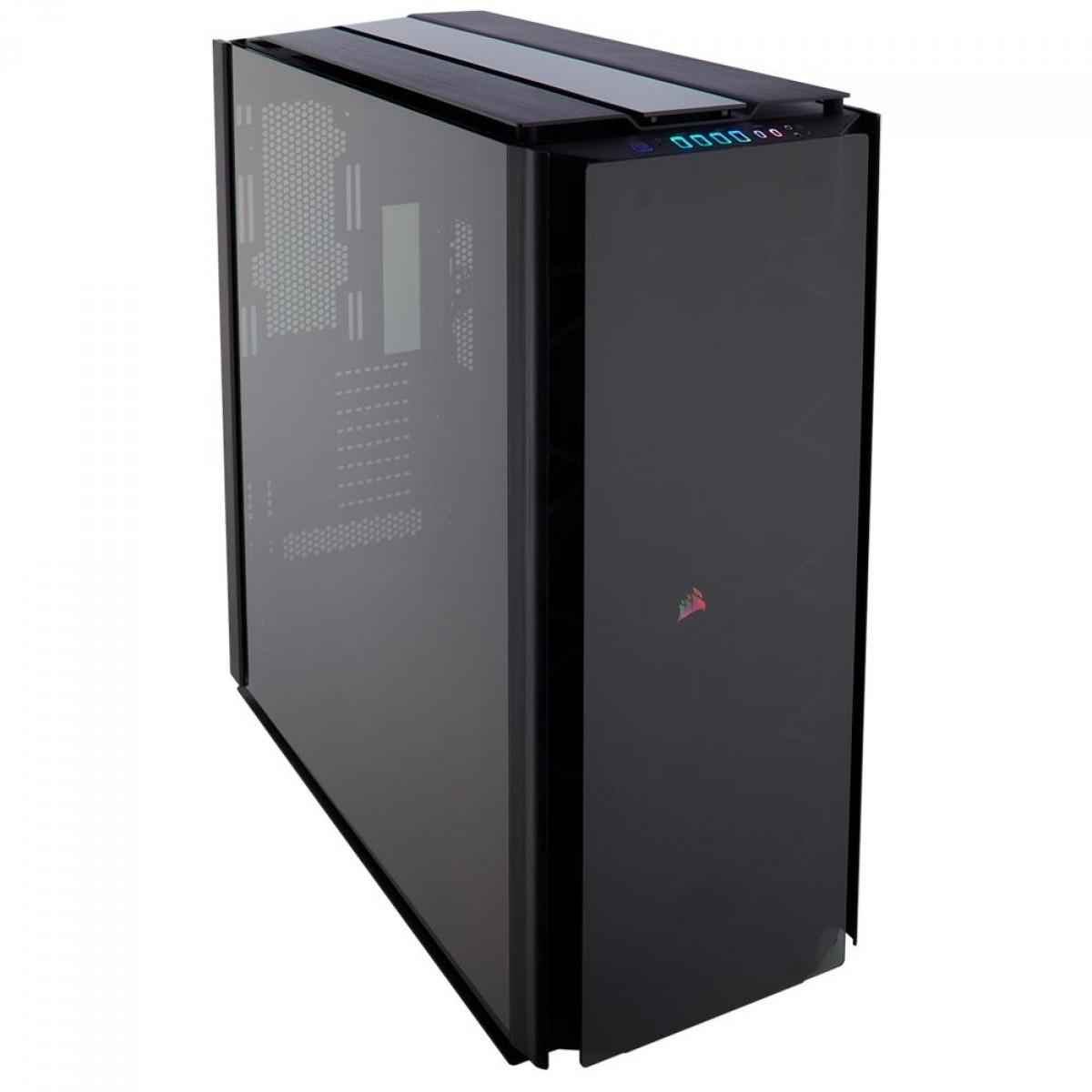 Gabinete Gamer Corsair Obsidian Series 1000D, RGB, Super Tower, Vidro temperado, Black, Sem Fonte, Sem Fan, CC-9011148-WW