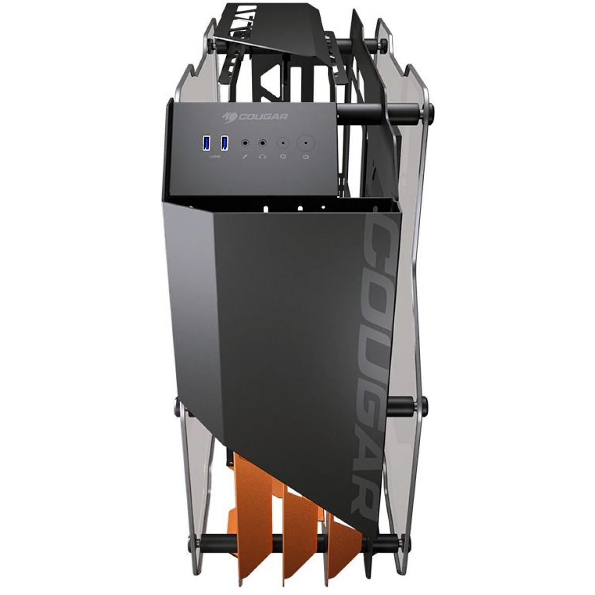 Gabinete Gamer Cougar Blazer, Vidro temperado, Mid Tower, Black, 385LMG0-0001, Sem Fonte, Sem Fan