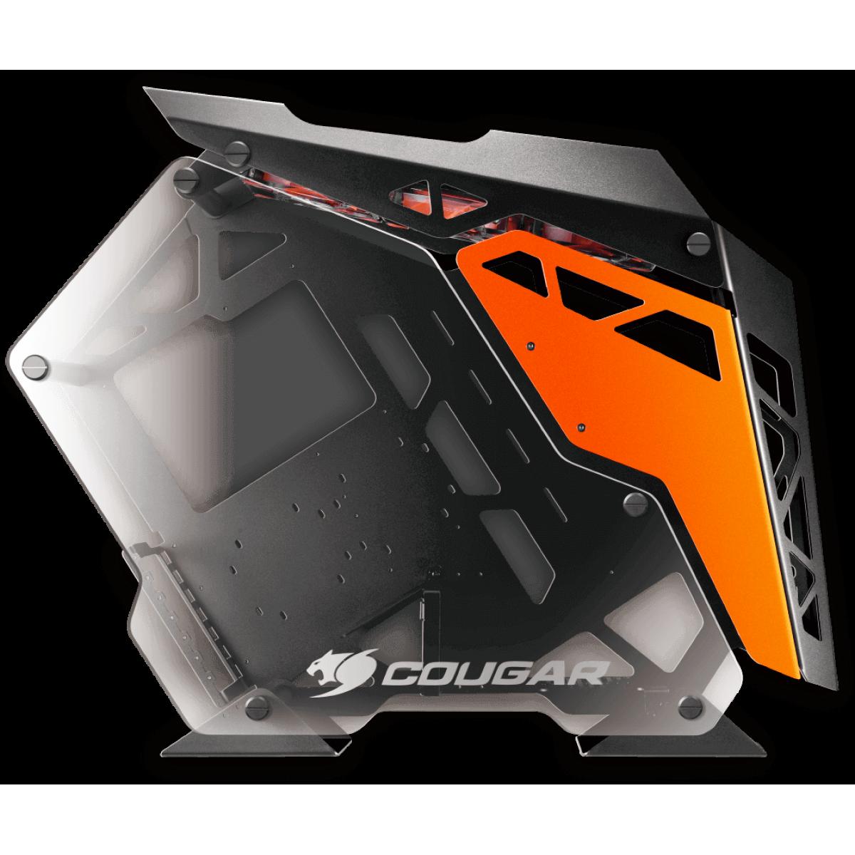 Gabinete Gamer Cougar Conquer 385LMR0.0001 Vidro Temperado Mid Tower Preto Sem Fonte