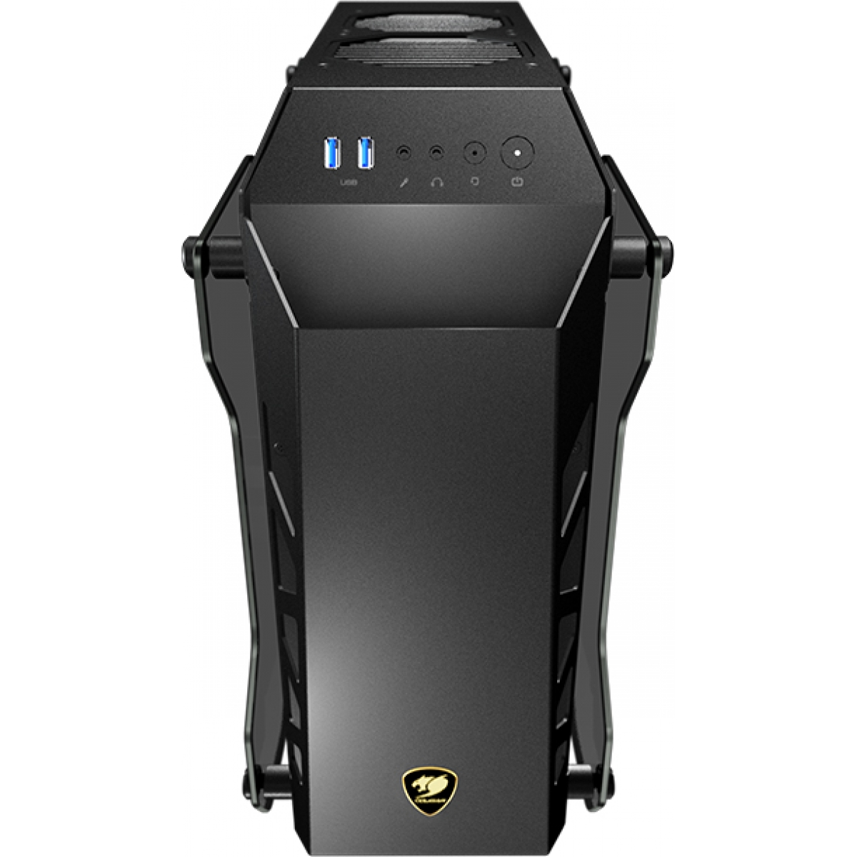 Gabinete Gamer Cougar Conquer Essence, Mini Tower, Vidro Temperado, Black, Sem Fonte