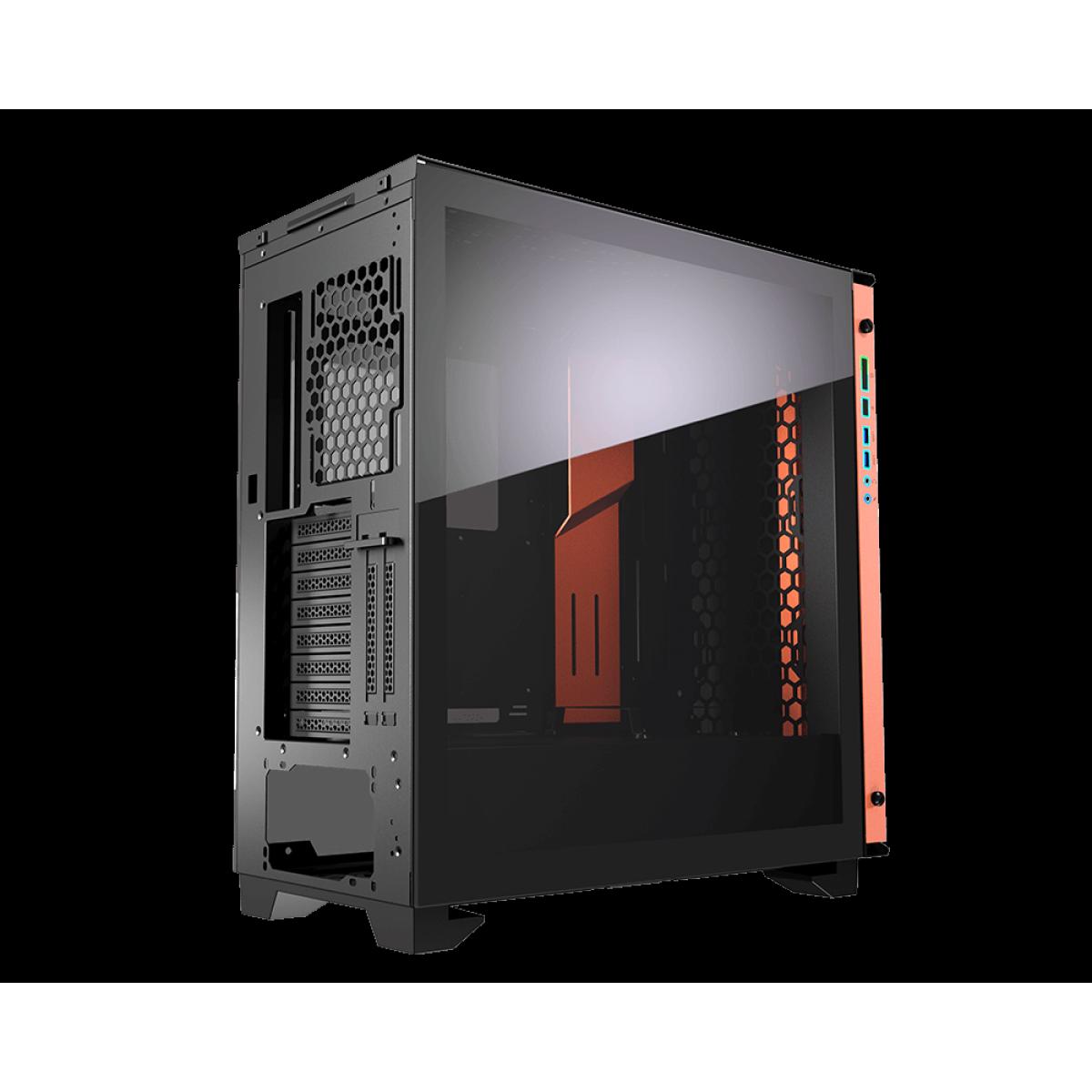Gabinete Gamer Cougar Dark Blader S RGB, Full Tower, Black, Sem Fonte, Com 1 Fan