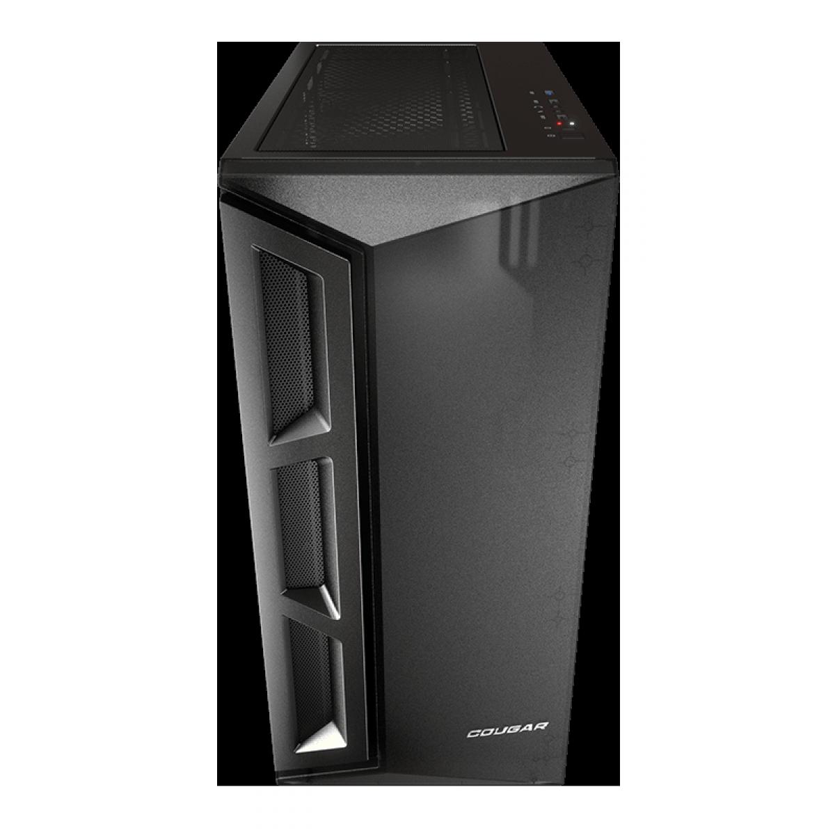 Gabinete Gamer Cougar DarkBlader X5, Mid Tower, Vidro Temperado, Black, ATX, Sem Fonte, Com 1 Fan, 385UM30-0001